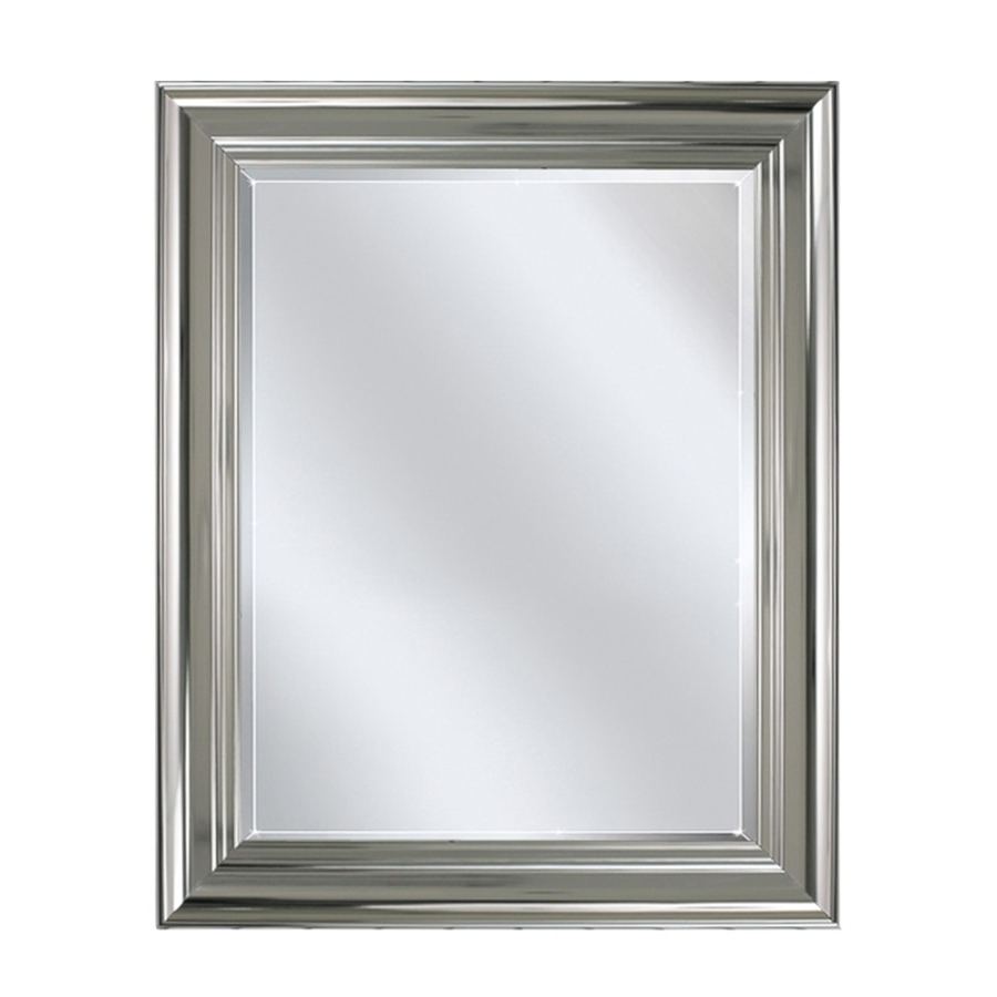Famous Allen + Roth Chrome Wall Mirror At Lowes Within Chrome Wall Mirrors (View 14 of 20)
