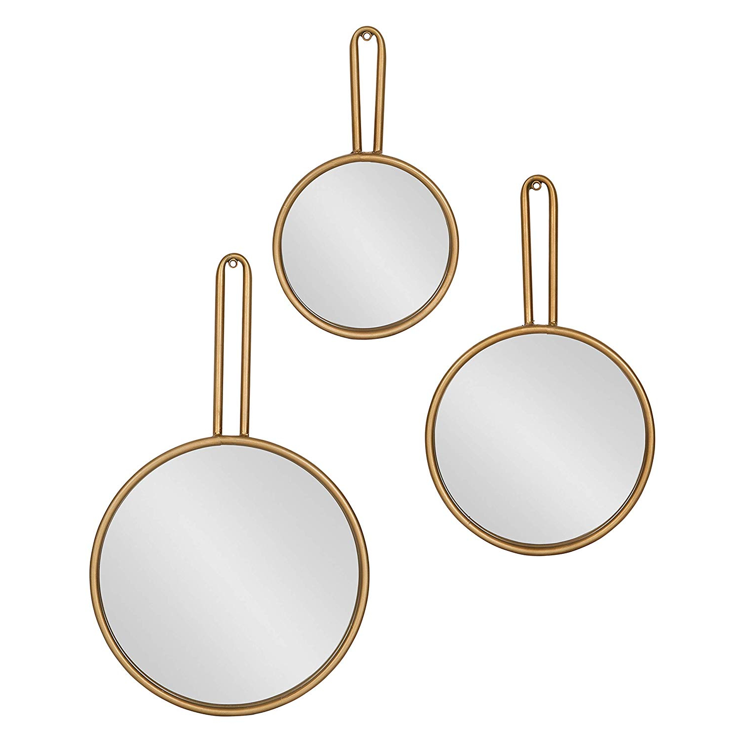Famous Amazon: Kate And Laurel Varela Modern Design 3 Piece Decorative With 3 Piece Dima Hanging Modern & Contemporary Mirror Sets (View 3 of 20)