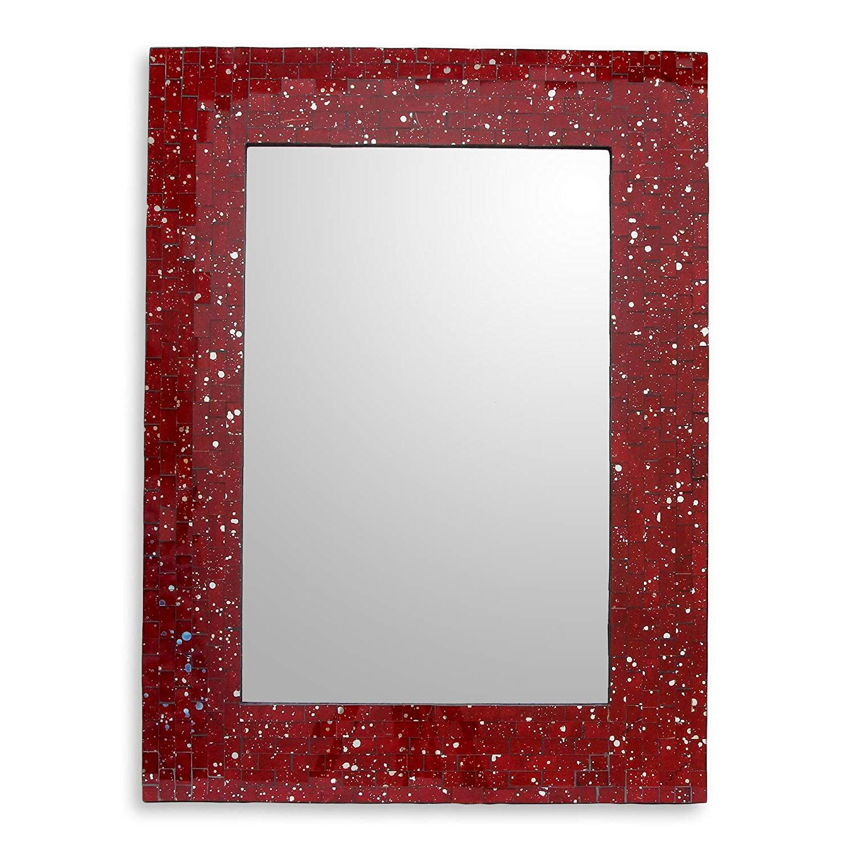 Famous Amazon: Novica Mi0039 Aqua Cosmos' Glass Mosaic Wall Mirror In Aqua Wall Mirrors (View 8 of 20)