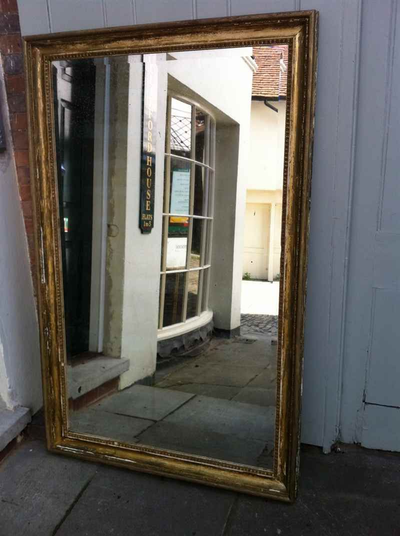 Famous Antique Full Length Wall Mirrors Pertaining To Large 19Th Century French Gilt Original Distressed Wall Mirror (View 13 of 20)