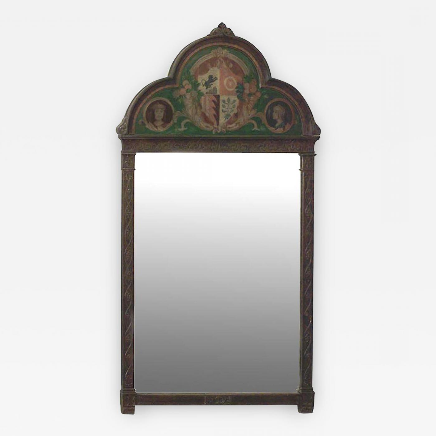 Famous Arch Vertical Wall Mirrors Regarding English Victorian Gothic Style Oak Vertical Wall Mirror (View 18 of 20)