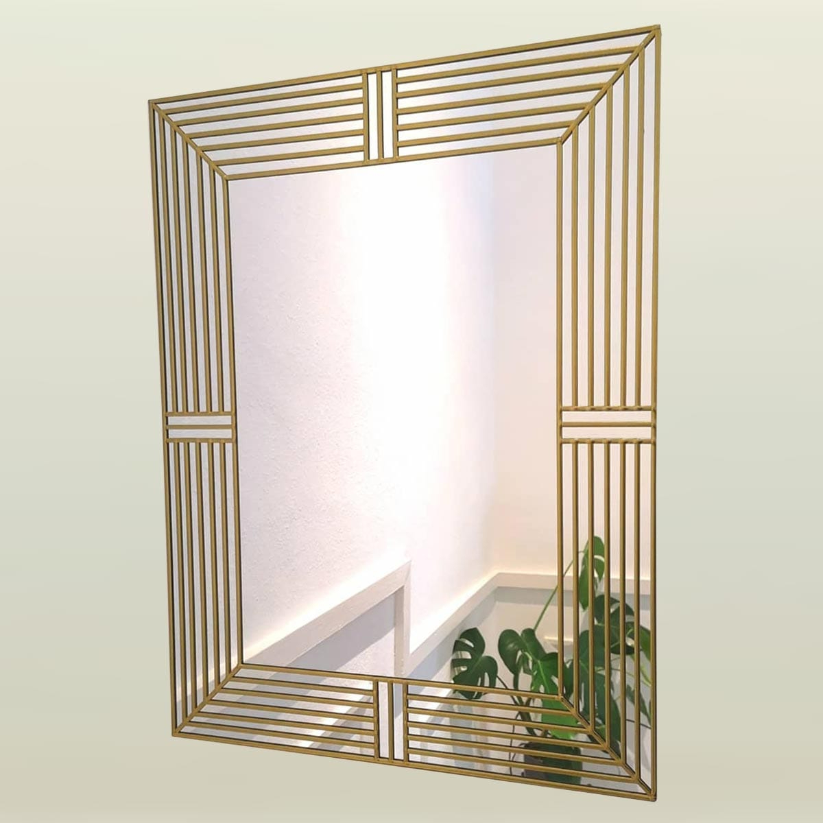 Famous Art Deco Wall Mirrors In Art Deco Wall Mirror 61x91cm (2ftx3ft) (View 2 of 20)