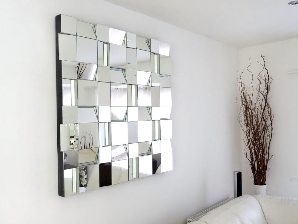 Famous Big Decorative Wall Mirrors In Modern Style Large Decorative Wall Mirror Framed Glass Vases (View 4 of 20)