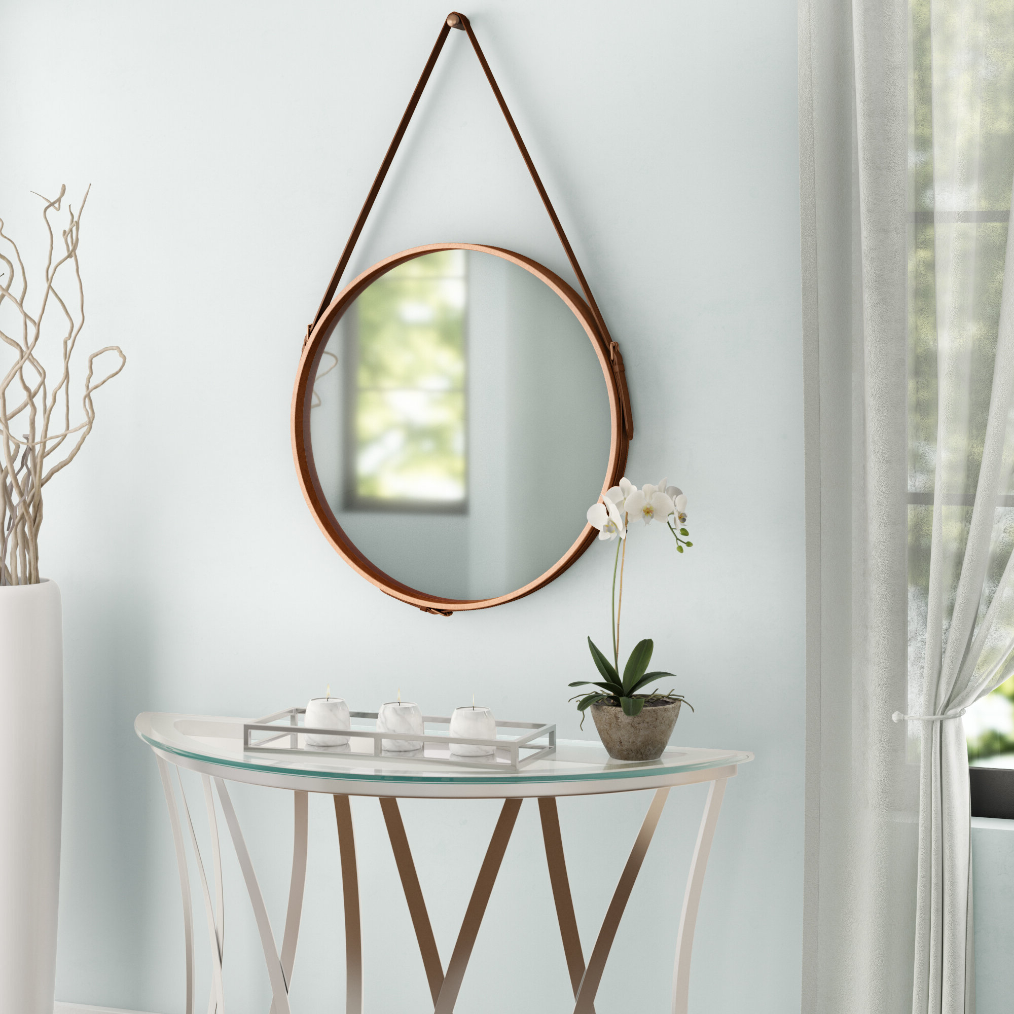 Famous Bombay Distressed Vertical Round Wall Mirror For Vertical Round Wall Mirrors (View 3 of 20)
