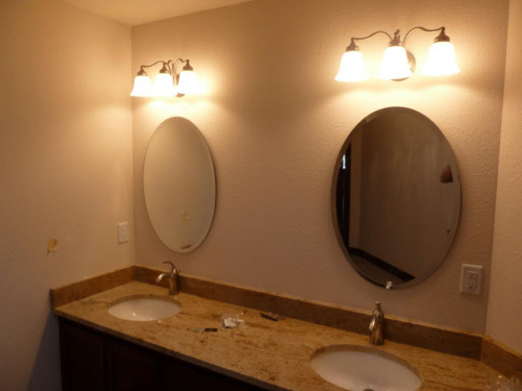 Famous Brushed Nickel Wall Mirror For Bathroom With Double Brushed Nickel For Brushed Nickel Wall Mirrors (View 13 of 14)