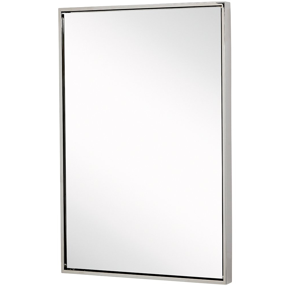Famous Clean Large Modern Polished Nickel Frame Wall Mirror (View 5 of 20)