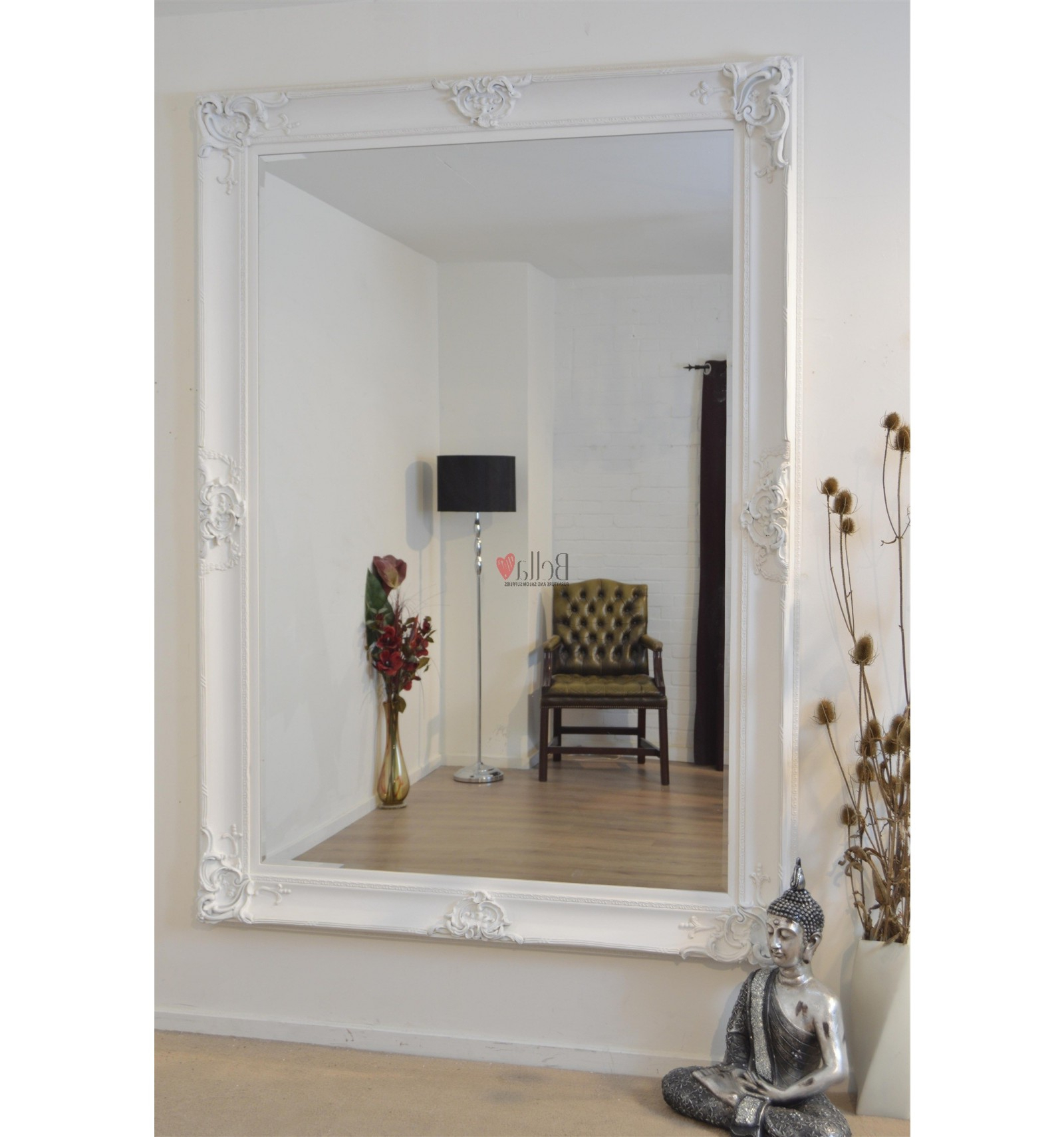 Famous Extra Large Wall Mirrors Inside White Extra Large Wall Mirror (View 9 of 20)