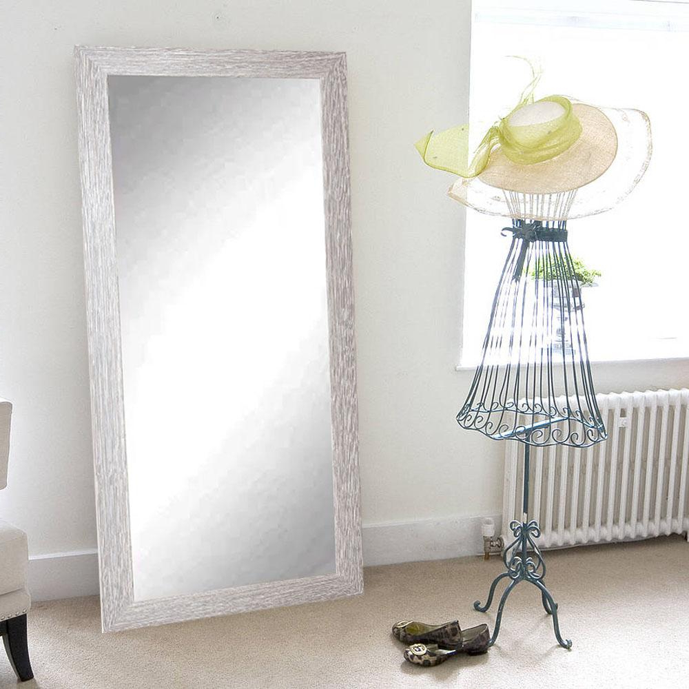 Famous Farmhouse Barnwood Full Length Floor Wall Mirror Intended For Full Length White Wall Mirrors (View 2 of 20)