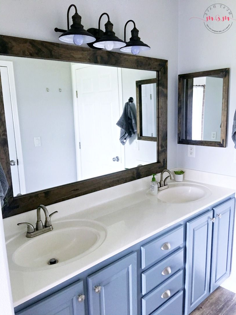 Famous Farmhouse Style Diy Vanity Mirrors Tutorial (View 14 of 20)