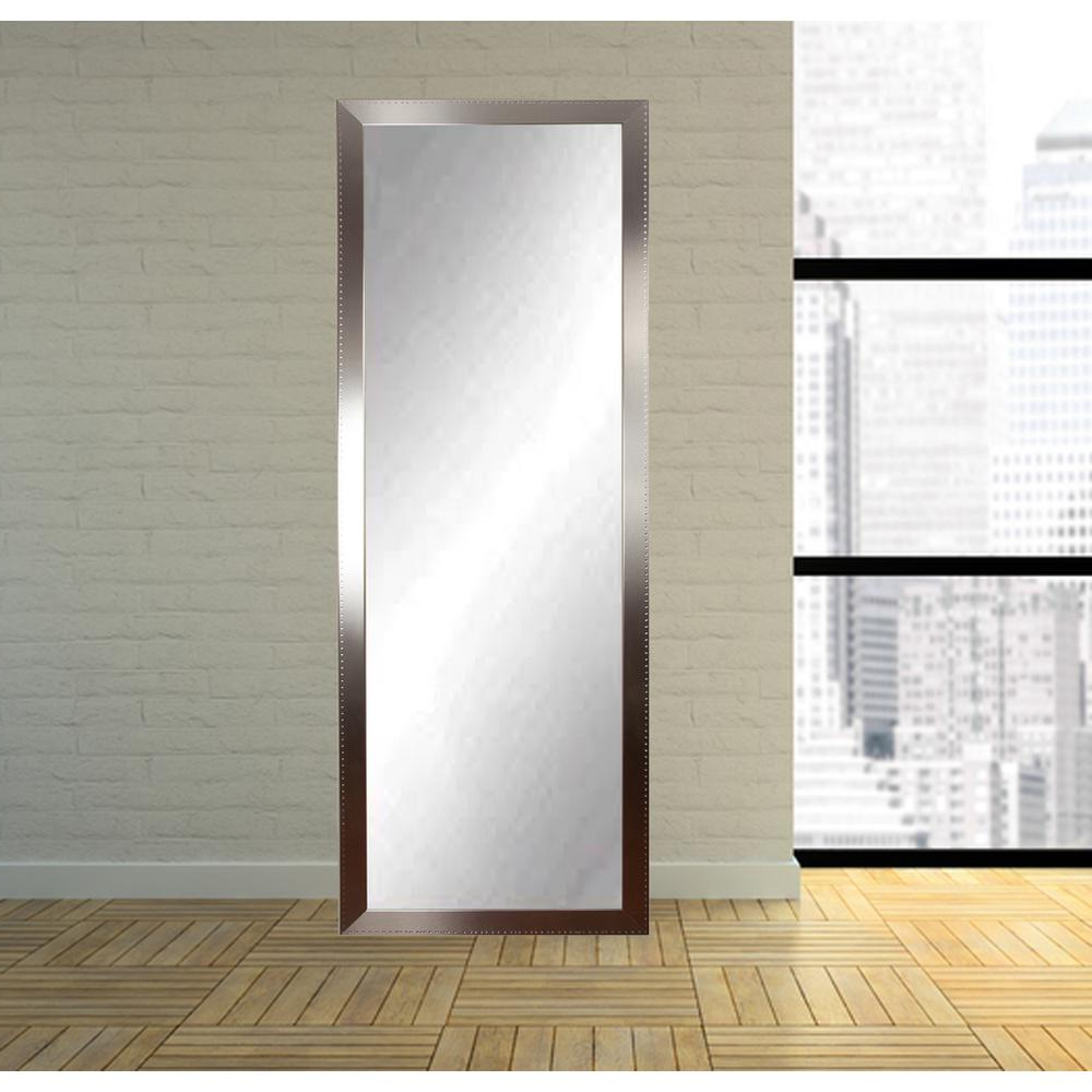 Famous Floor Wall Mirrors Within Brandtworks Embossed Steel Full Length Wall Mirror Bm26Thin (View 5 of 20)