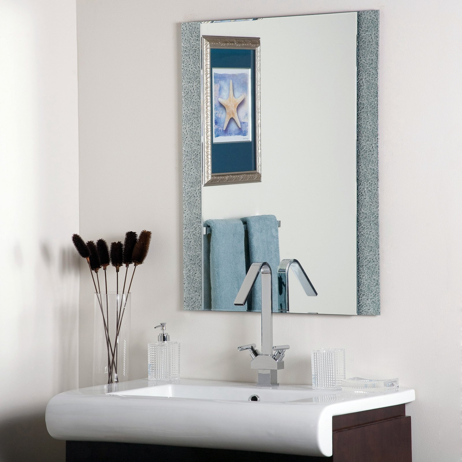 Famous Frameless Molten Wall Mirrors With Dã©cor Wonderland Dune Frameless Wall Mirror – 23.6w X (View 8 of 20)