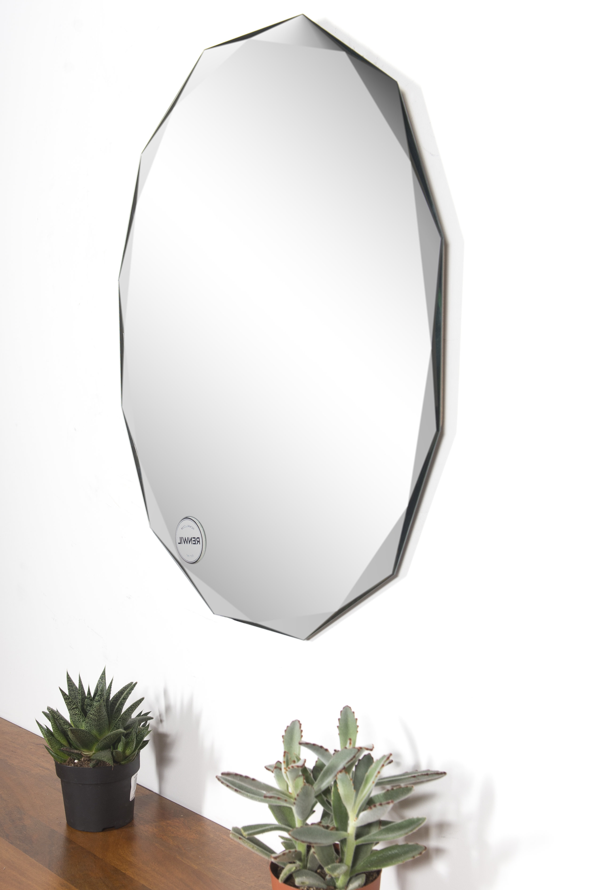 Famous Gaunts Earthcott Modern & Contemporary Beveled Accent Mirrors For Wrought Studio Newson Modern And Contemporary Beveled Frameless Accent  Mirror (View 17 of 20)