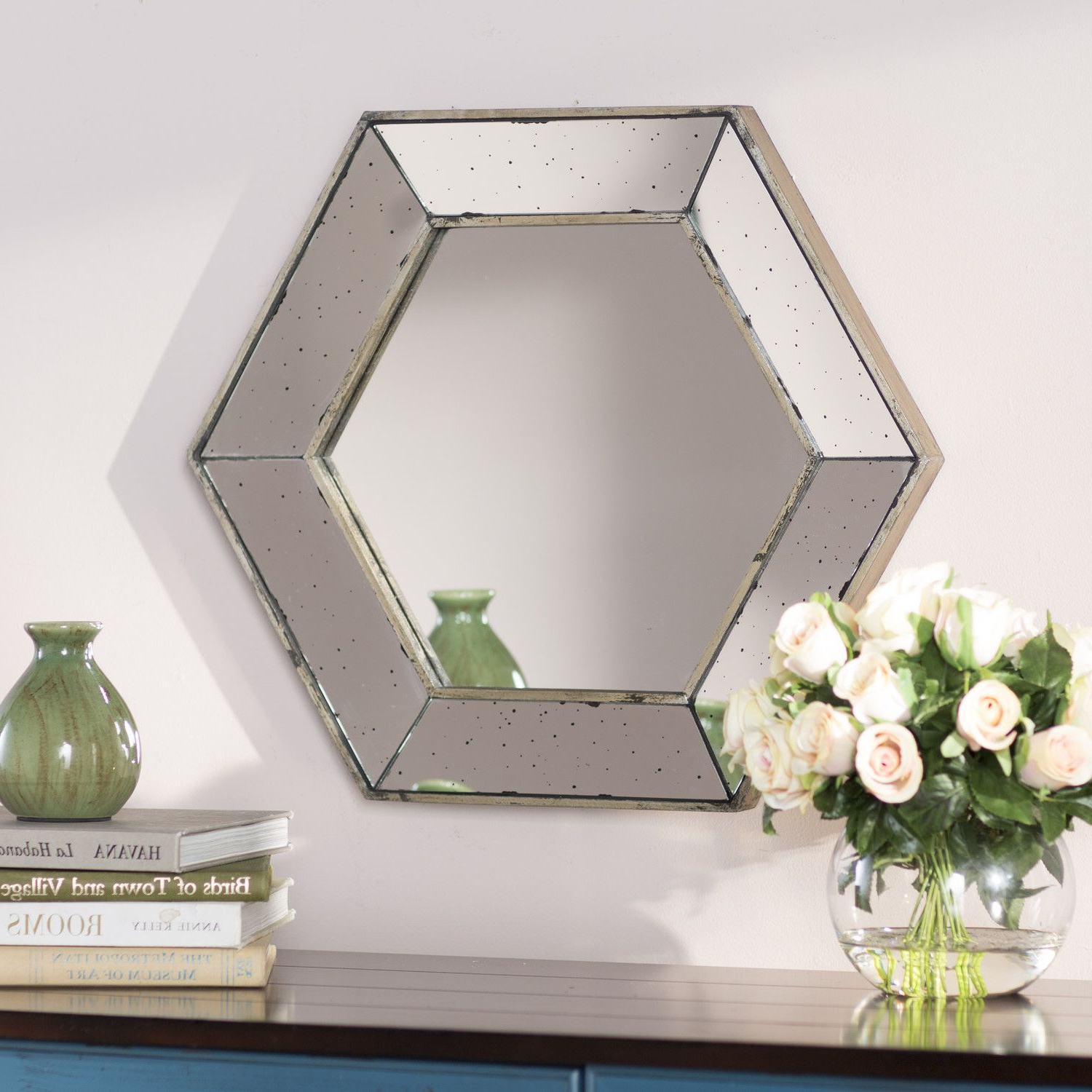 Famous Gia Hexagon Accent Mirror Products Wall Oversized Wall Mirrors With Gia Hexagon Accent Mirrors (View 5 of 20)