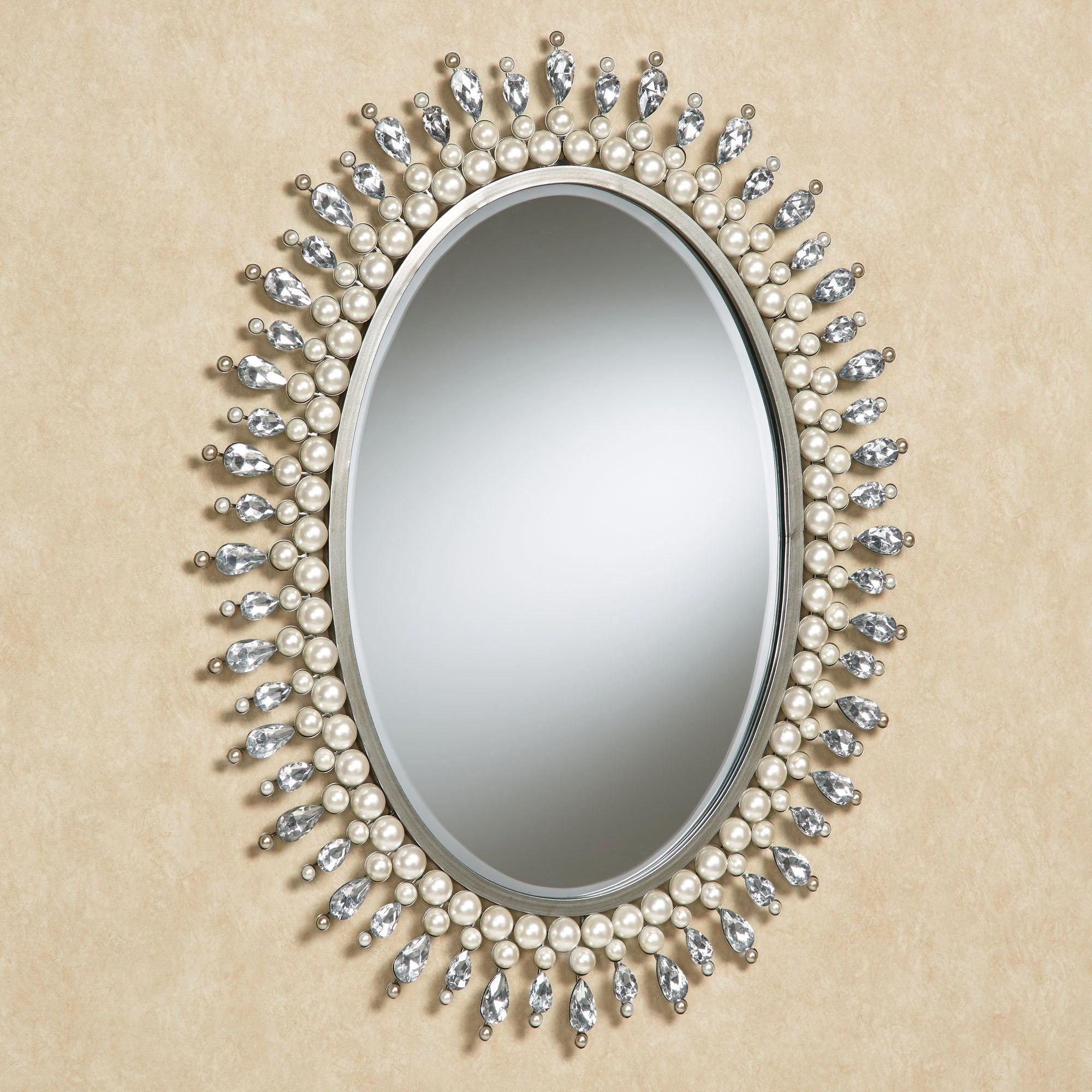 Famous Giselle Pearl And Gem Oval Wall Mirror In  (View 7 of 20)