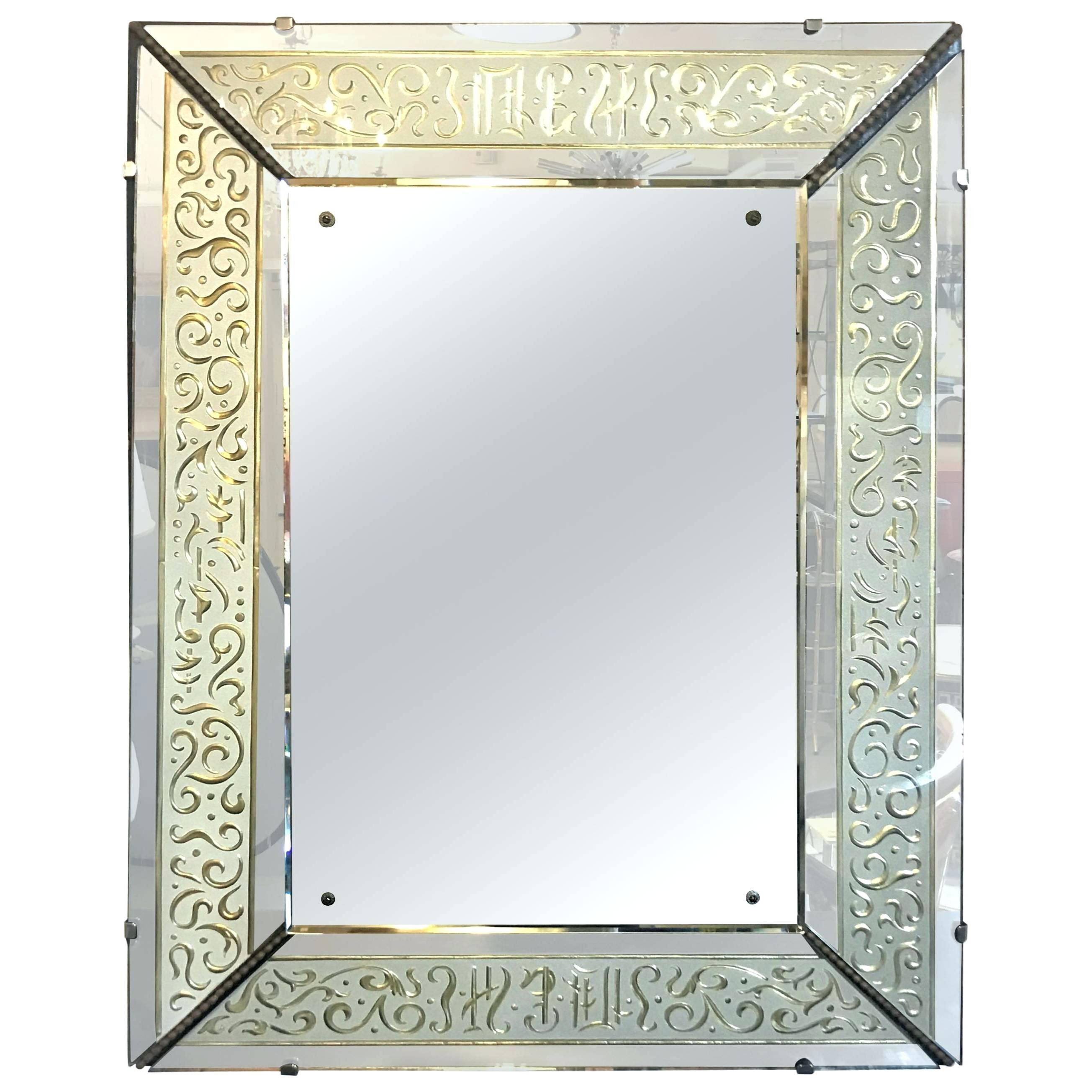 Famous Glass Framed Mirror – Suvardy (View 5 of 20)