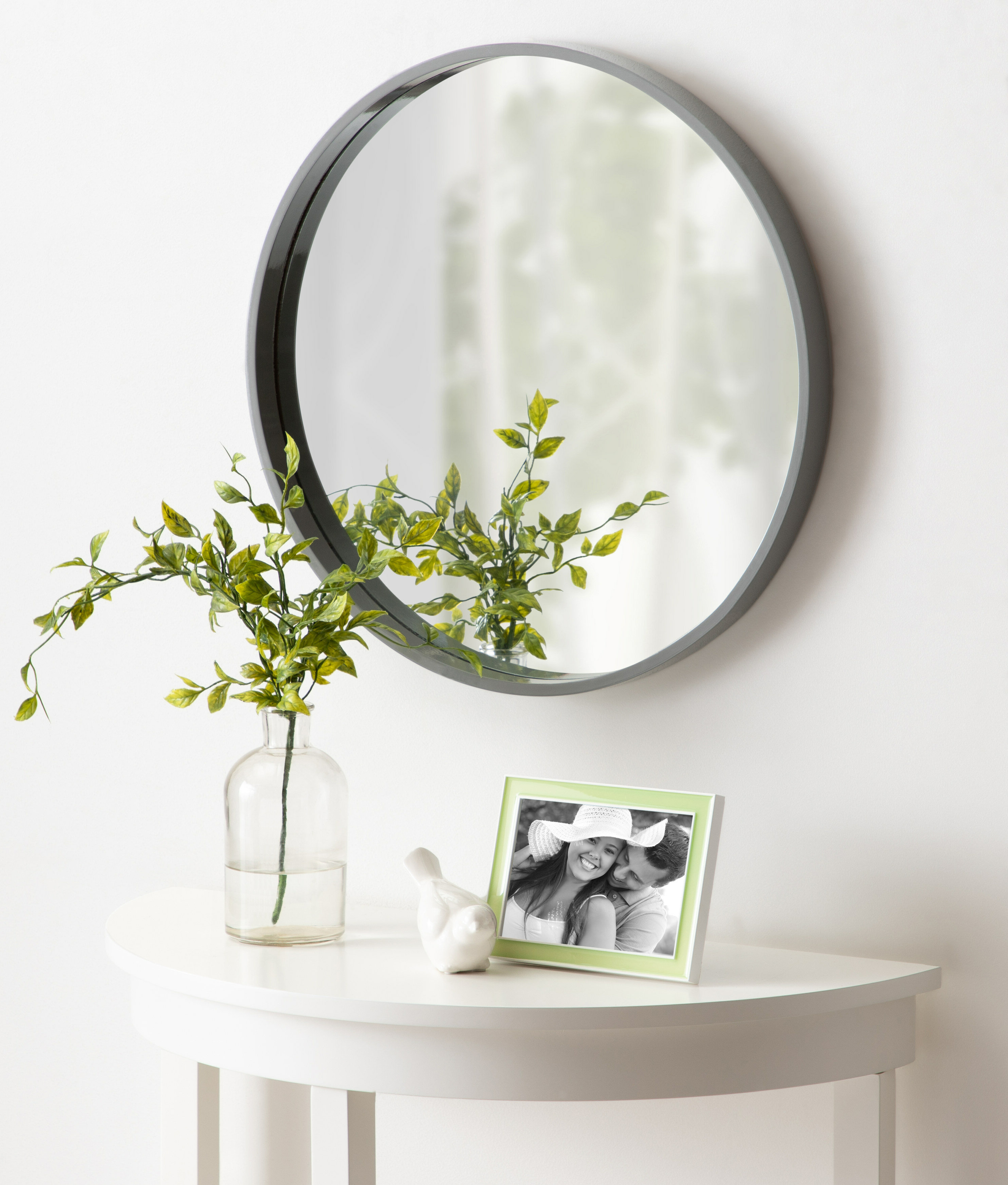 Famous Homerton Round Wall Accent Mirror Within Celeste Frameless Round Wall Mirrors (View 20 of 20)