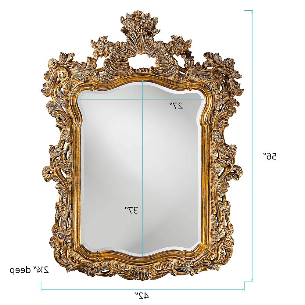 Famous Howard Elliott Turner Antique Gold Mirror Wall Decal 2147 – The Home Intended For Entire Wall Mirrors (View 20 of 20)