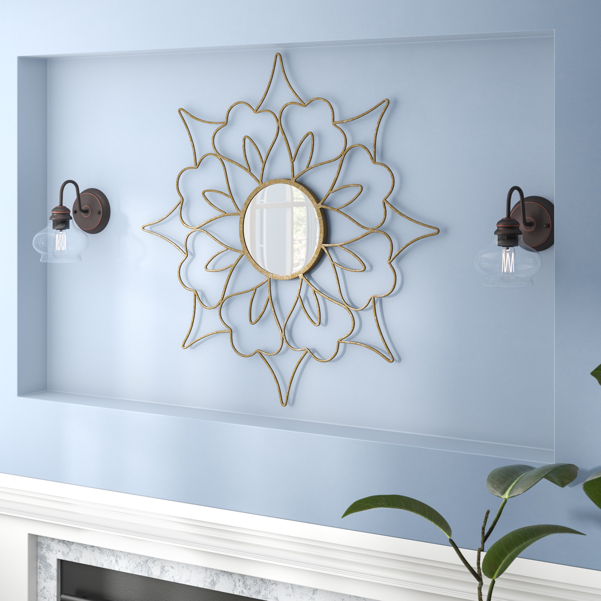 Famous Kondo Amaryllis Flower Accent Mirror In Newtown Accent Mirrors (View 7 of 20)