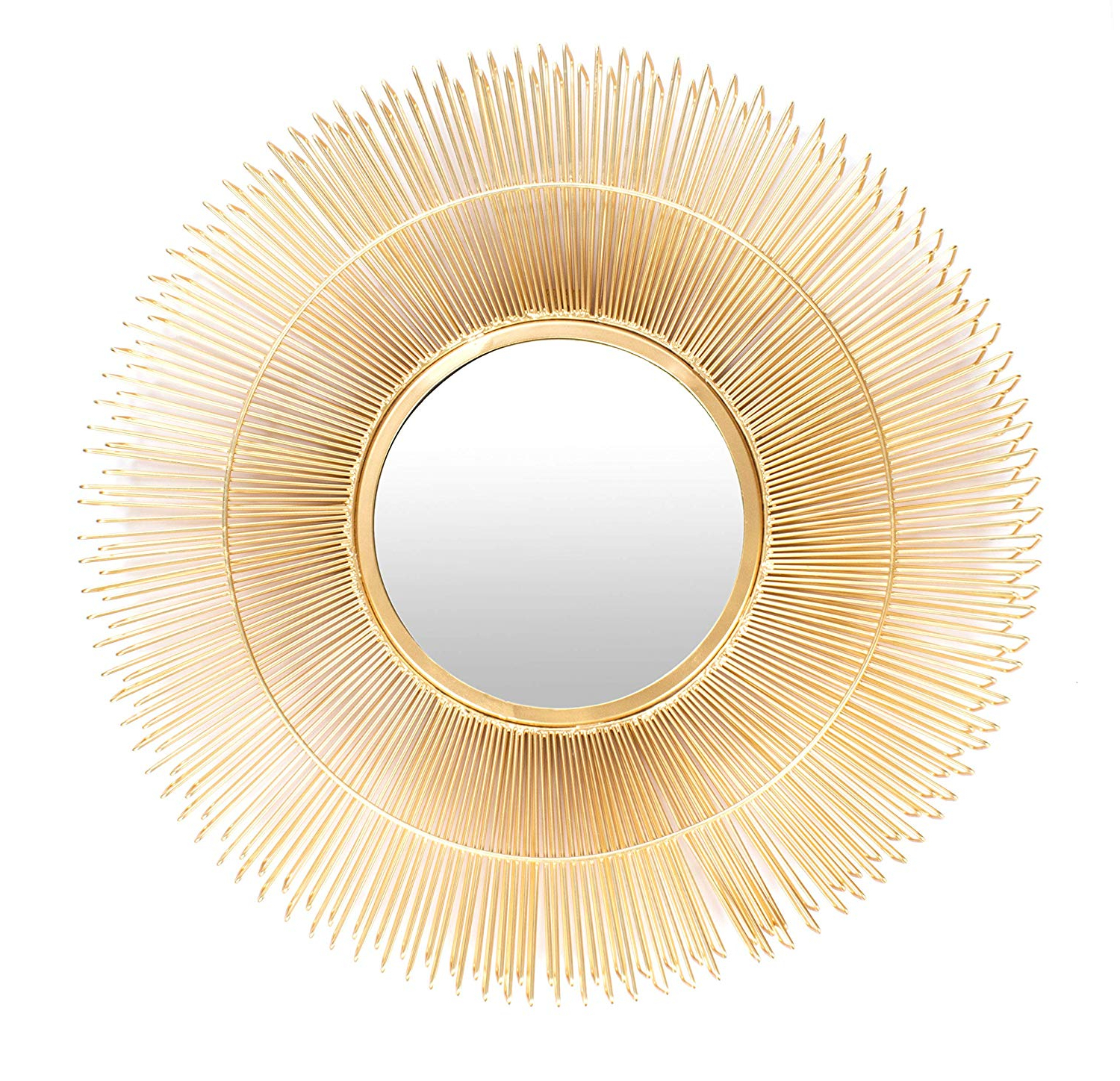 Famous Large Gold Wall Mirrors Pertaining To Amazon: Red Fig Home Wall Mirror Decor Decorative Gold (View 19 of 20)