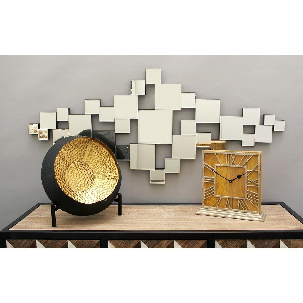 Famous Litton Lane Contemporary Abstract Wall Mirror Montage (View 10 of 20)