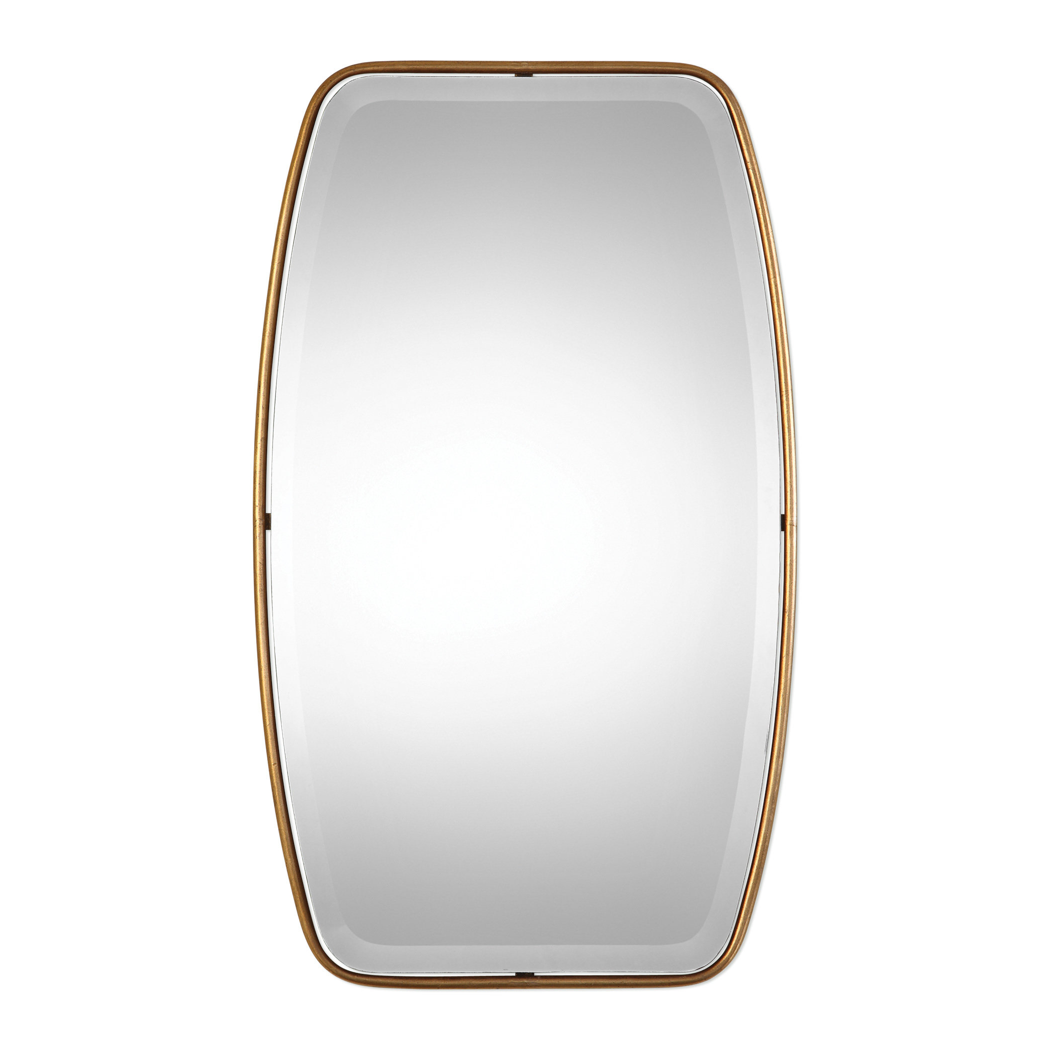 Famous Lugo Rectangle Gold Metal Wall Mirror Inside Lugo Rectangle Accent Mirrors (View 3 of 20)