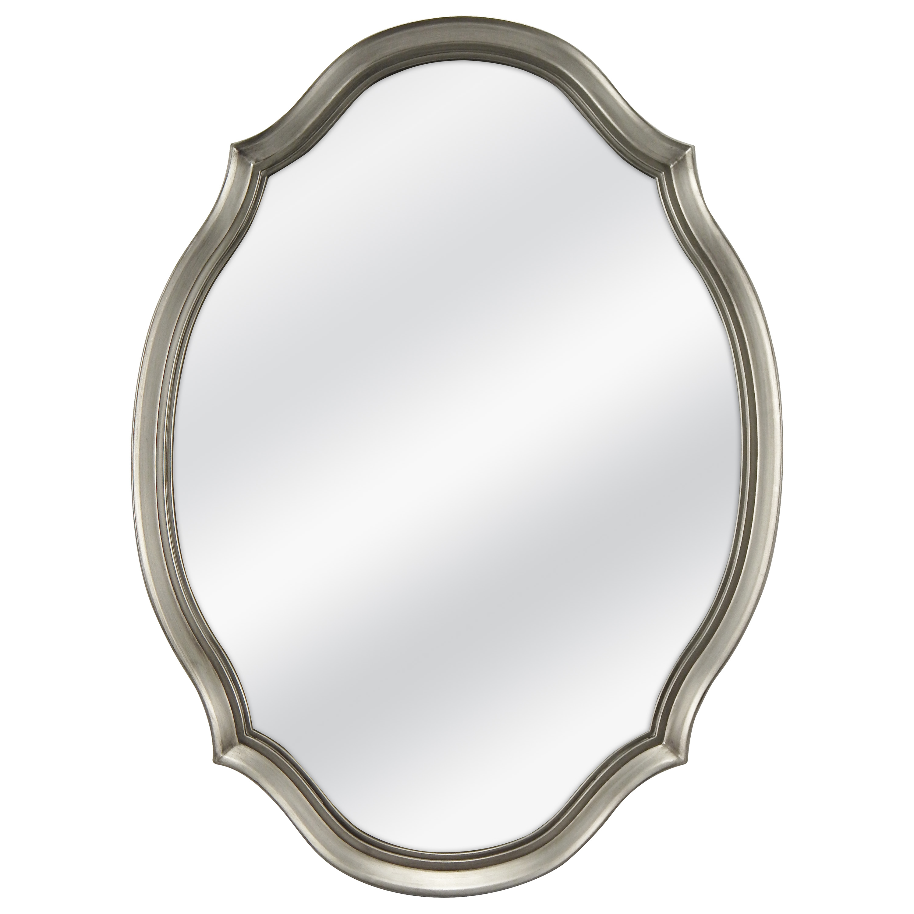 Famous Oval Shaped Wall Mirrors Within Mainstays 19X26 Pewter Shaped Oval Wall Mirror (View 5 of 20)