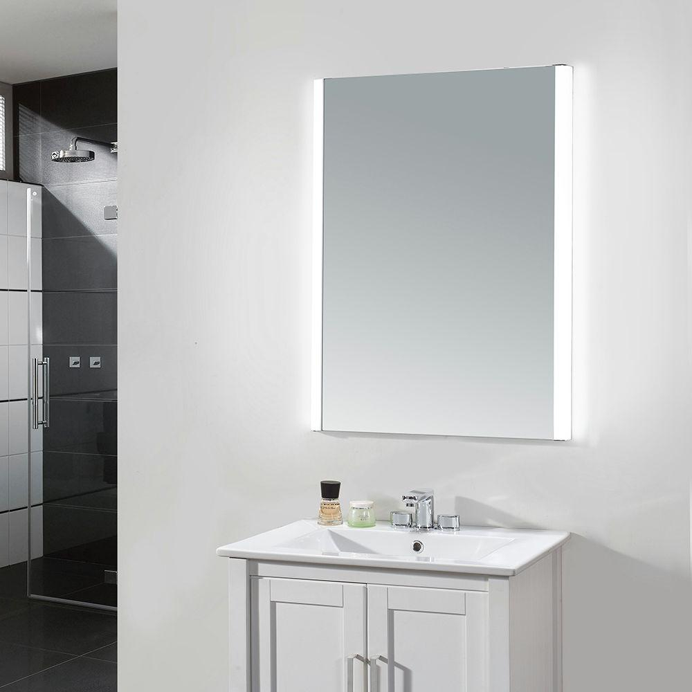 Famous Ove Decors Villon 24 In. X 31 In. Led Frameless Single Wall Mirror Regarding Vanity Wall Mirrors For Bathroom (Gallery 10 of 20)