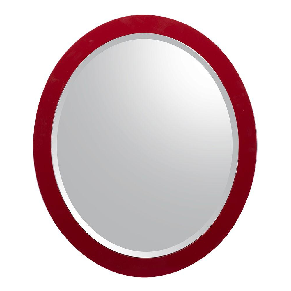 Famous Red Wall Mirrors Intended For Schon Esley 28 In. L X 24 In (View 5 of 20)