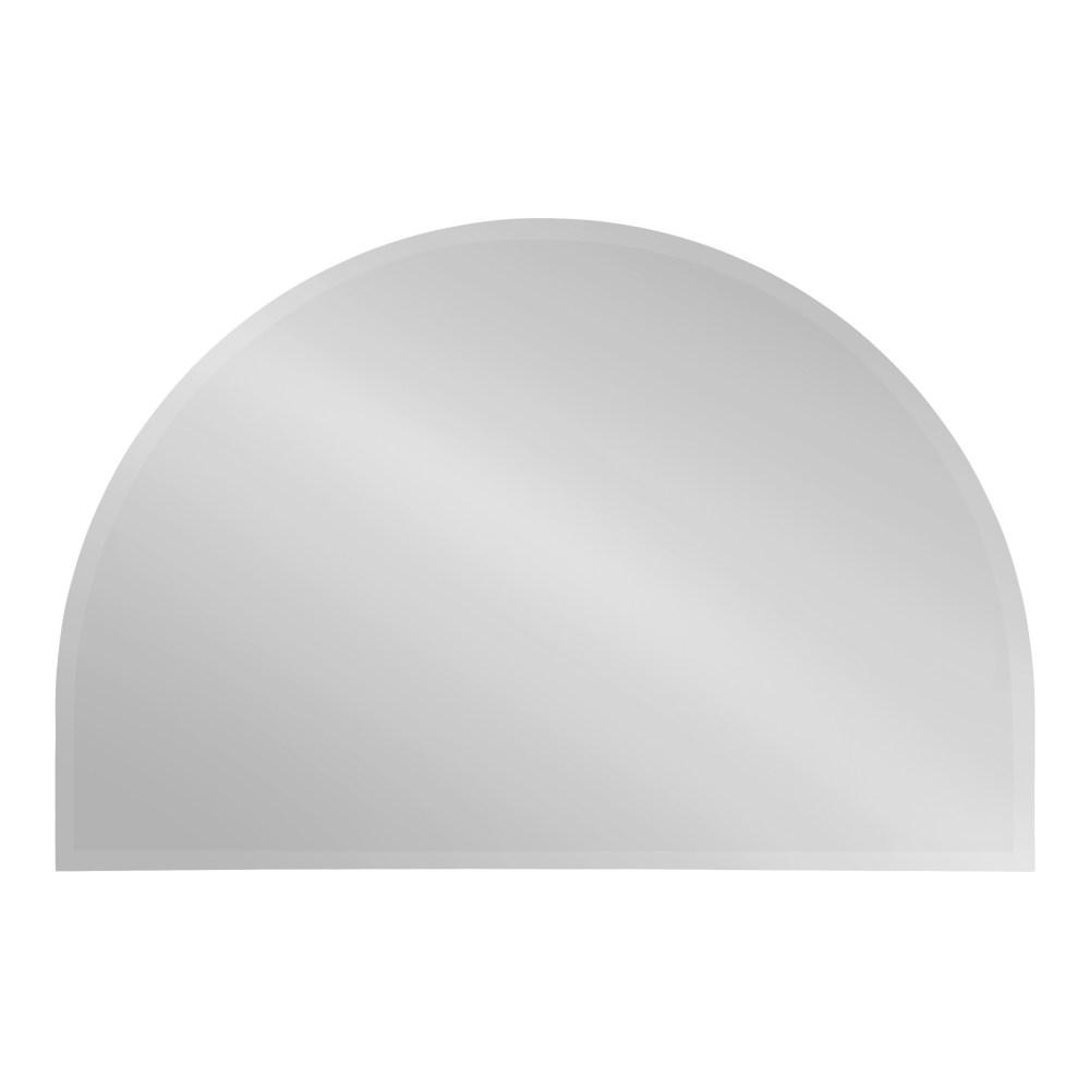 Famous Reign Frameless Oval Scalloped Beveled Wall Mirrors For Kate And Laurel Reign Half Circle Silver Wall Mirror 214806 – The (View 5 of 20)