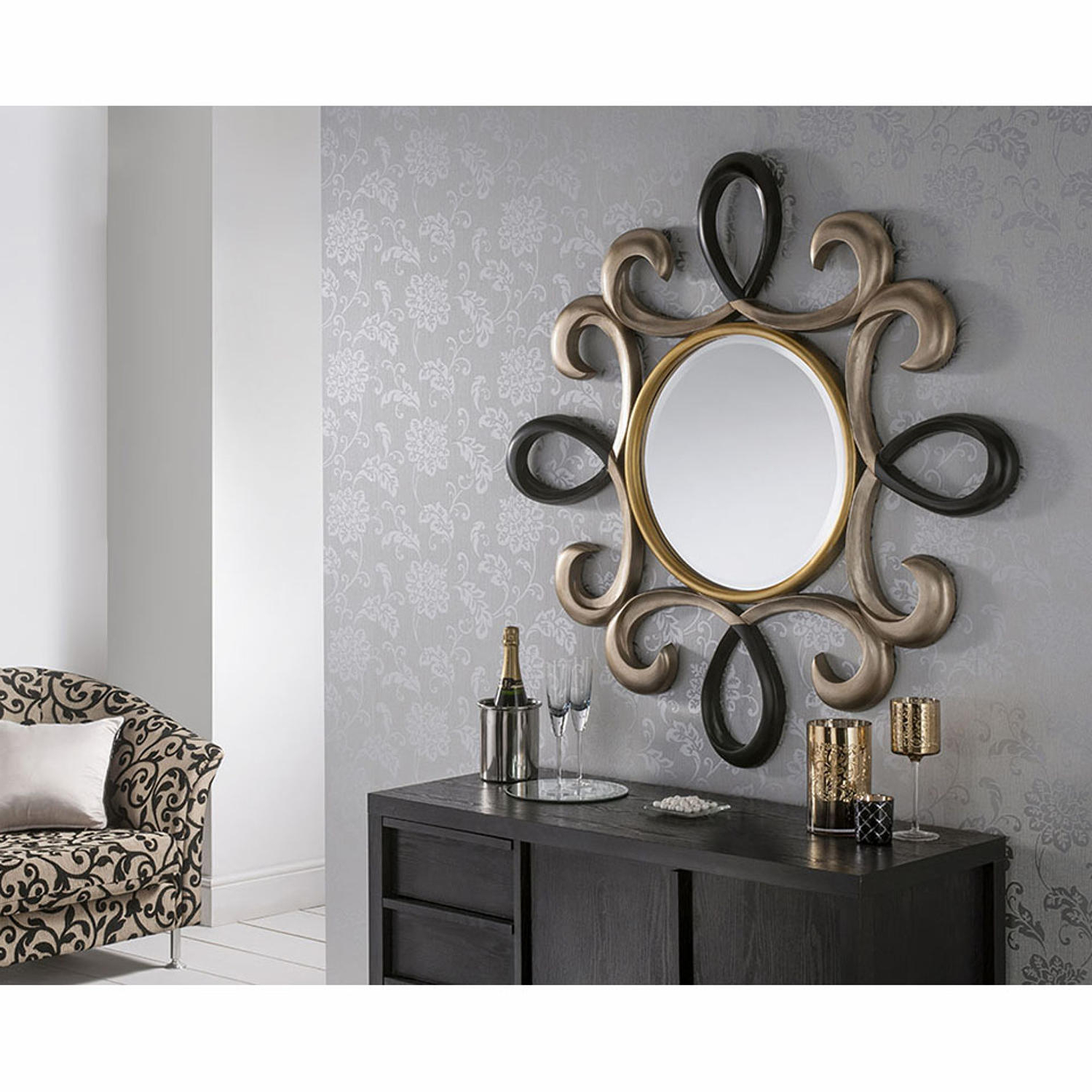 Famous Round Circular Swirl Wall Mirror In Dorking, Surrey Throughout Swirl Wall Mirrors (View 19 of 20)