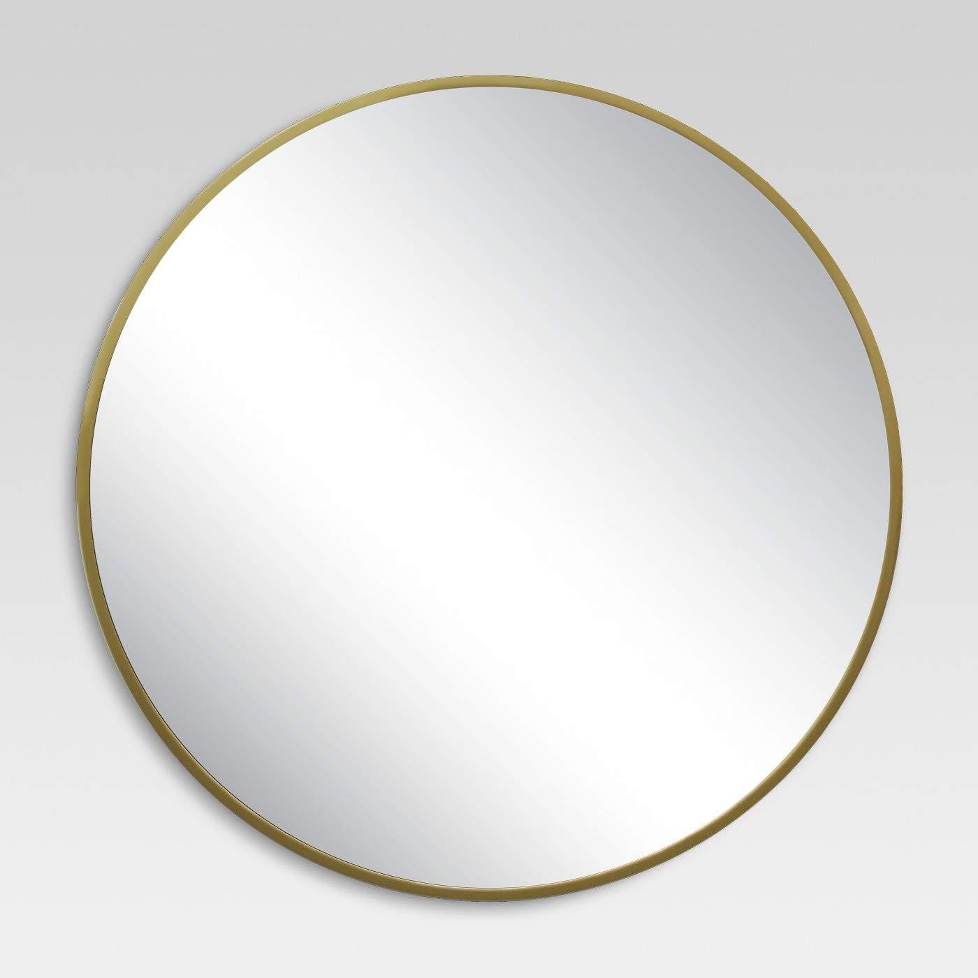 Famous Round Decorative Wall Mirrors Regarding Round Decorative Wall Mirror Brass – Project (View 13 of 20)