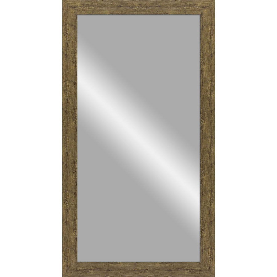 Famous Rustic Wood Wall Mirrors Inside 48 In L X 24 In W Rustic Barn Wood Polished Wall Mirror At (View 20 of 20)