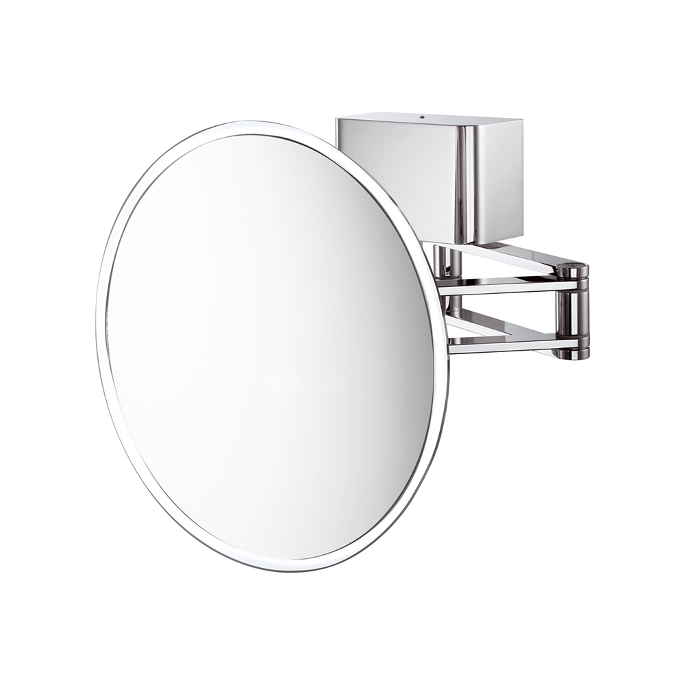 Famous Sam Kosmetic Extendable Round Led Wall Mirror (View 14 of 20)
