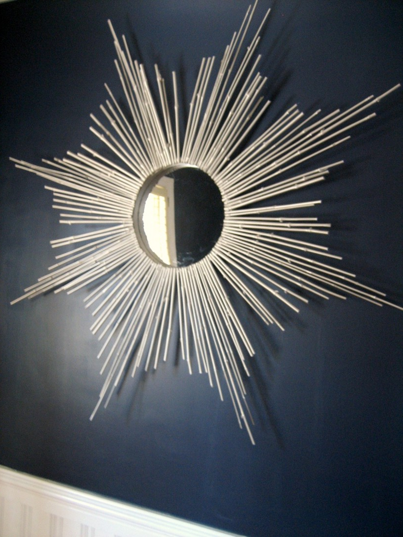 Famous Sun Ray Wall Mirrors Intended For Tips: Endearing Sunburst Mirror Diy With Classy Design For (Gallery 16 of 20)