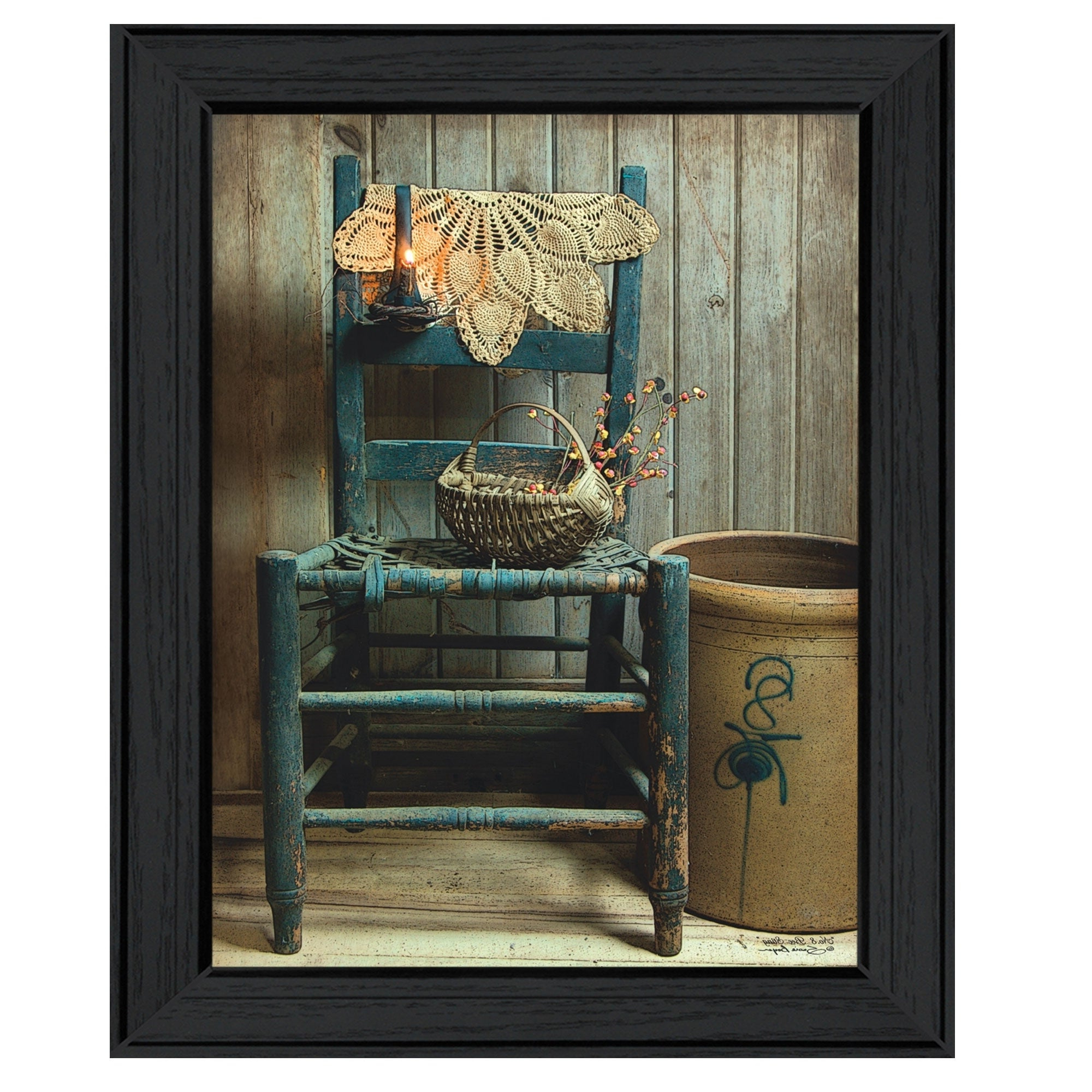 """Famous """"this Old Chair""""susan Boyer, Printed Wall Art, Ready To Hang Framed Poster, Black Frame In Boyers Wall Mirrors (View 17 of 20)"""