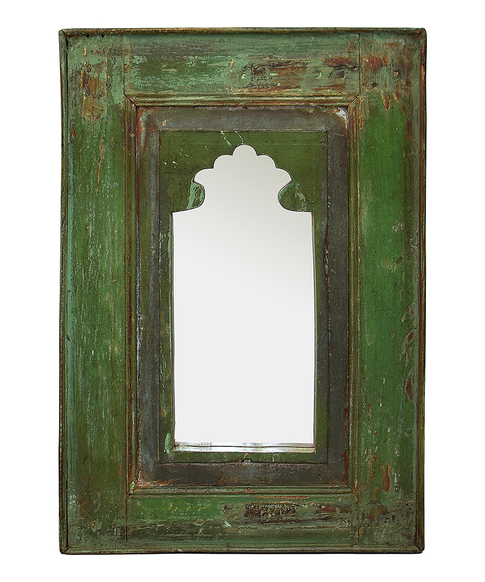 Famous Vintage Addiction Moss Green Distressed Wood Wall Mirror Intended For Distressed Wood Wall Mirrors (View 15 of 20)