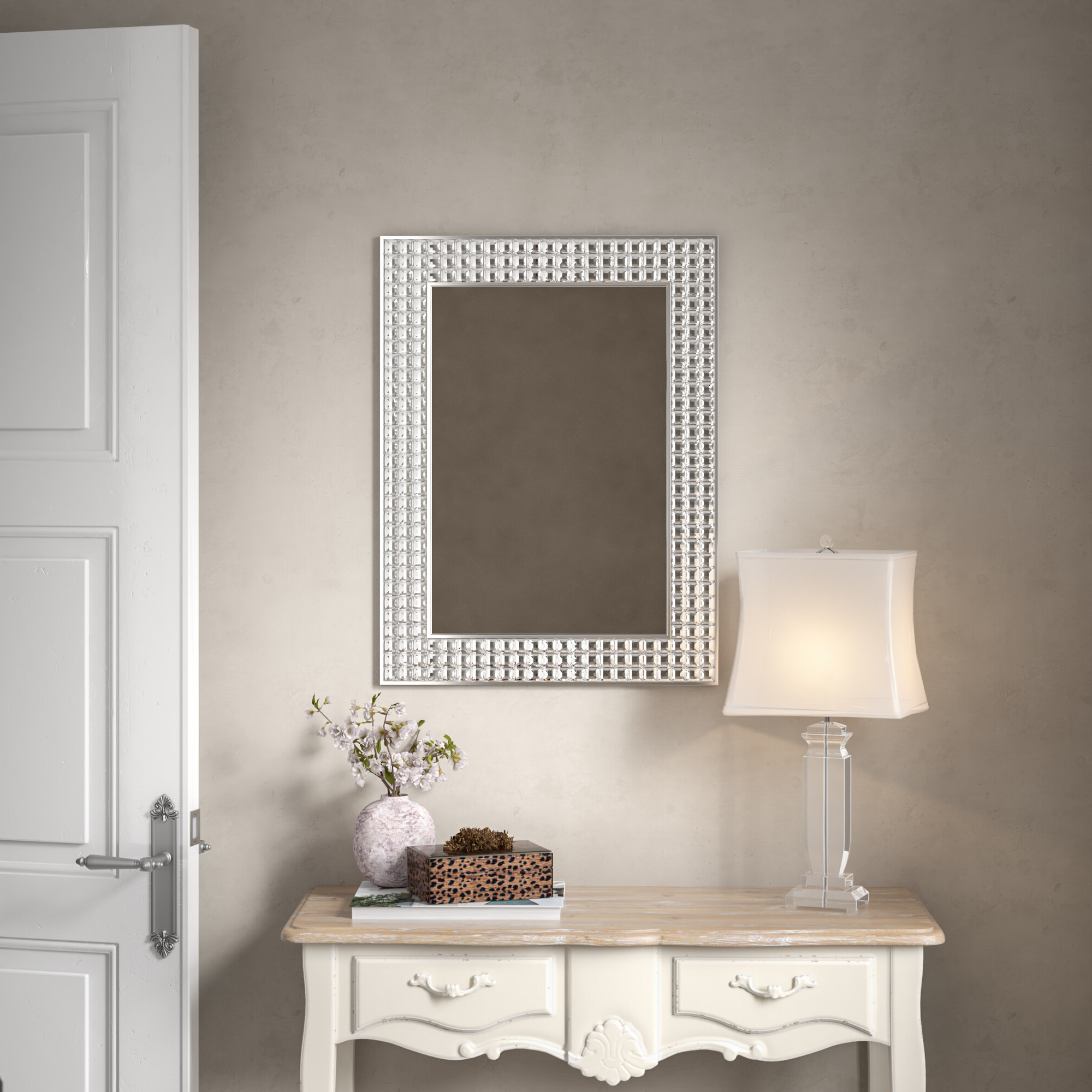 Famous Wall Mirrors With Crystals Throughout Crystals Wall Mirror (View 6 of 20)