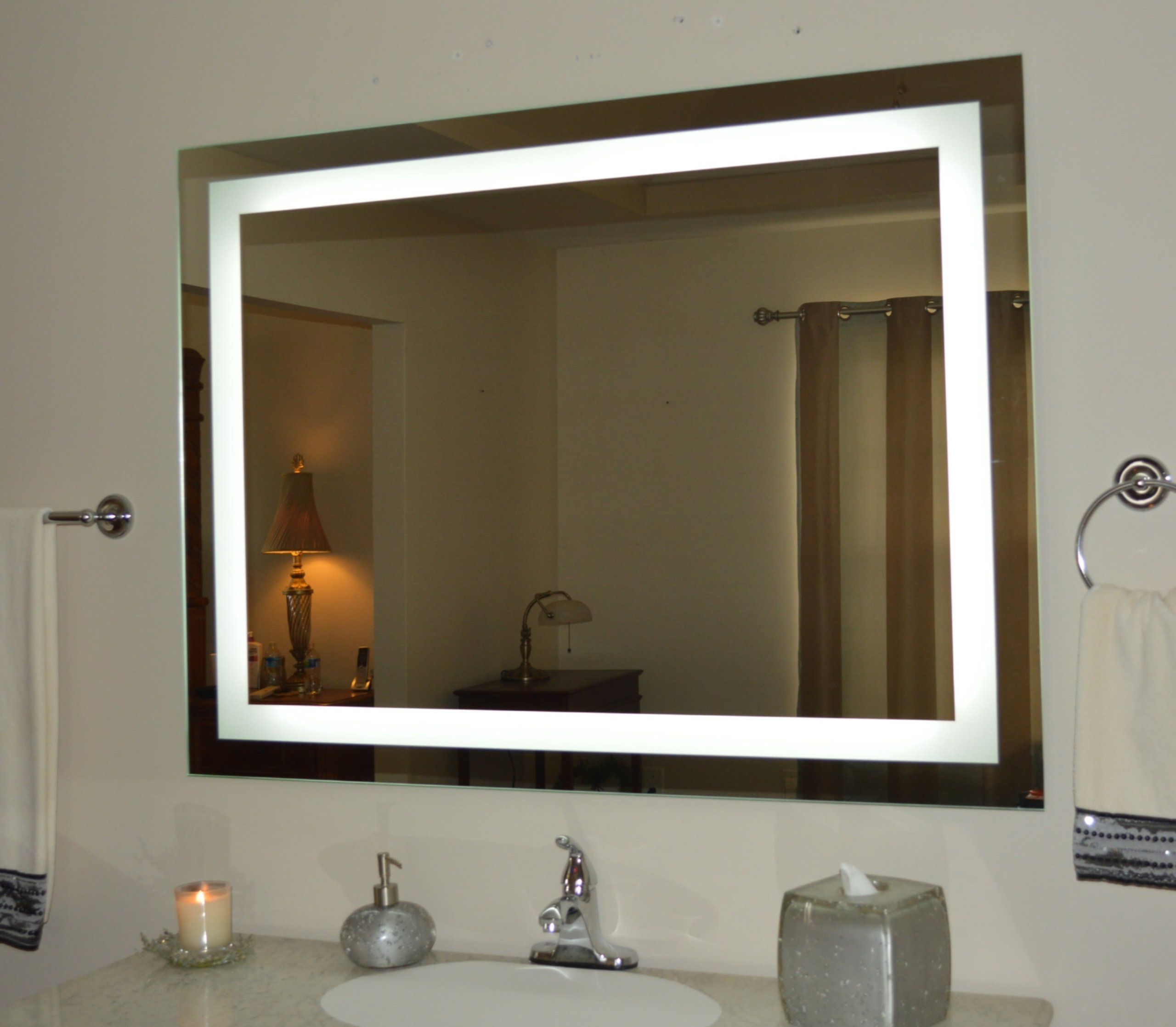Famous Wall Mounted Lighted Vanity Mirror Led Mam84836 Commercial Grade 48 Inside Light Up Wall Mirrors (View 4 of 20)