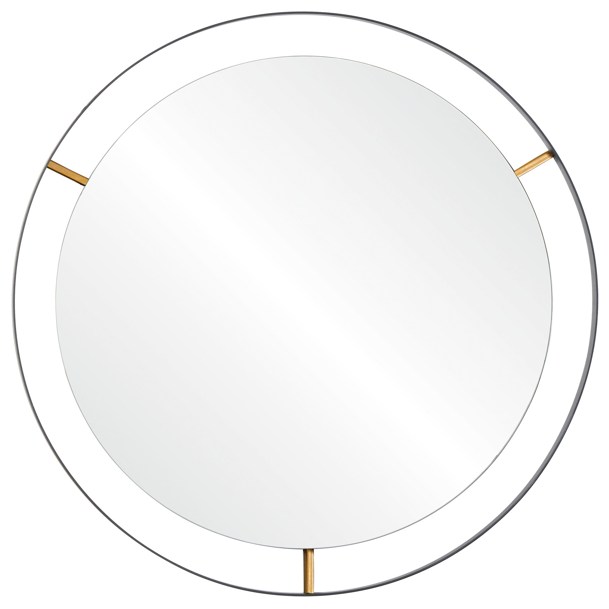 Famous Wolfenbarger Industrial Accent Mirror With Gaunts Earthcott Wall Mirrors (View 11 of 20)