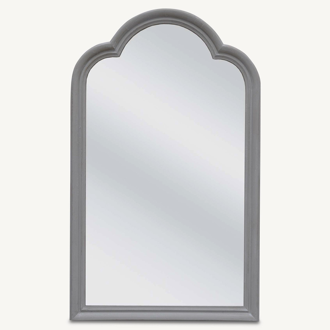 Famous Wooden Wall Mirrors Intended For Vivienne Grey Wooden Wall Mirror (Gallery 15 of 20)