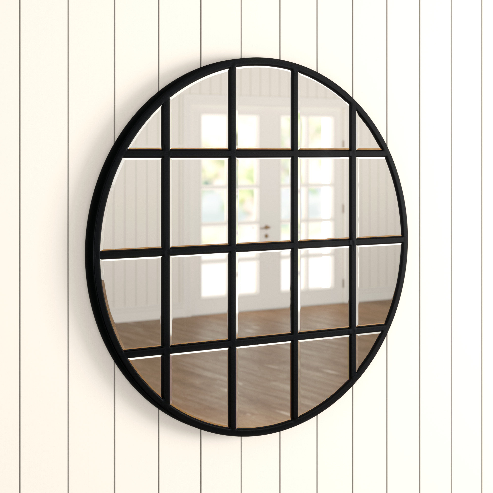 Famous Yatendra Cottage/country Beveled Accent Mirror Regarding Austin Industrial Accent Mirrors (View 8 of 20)