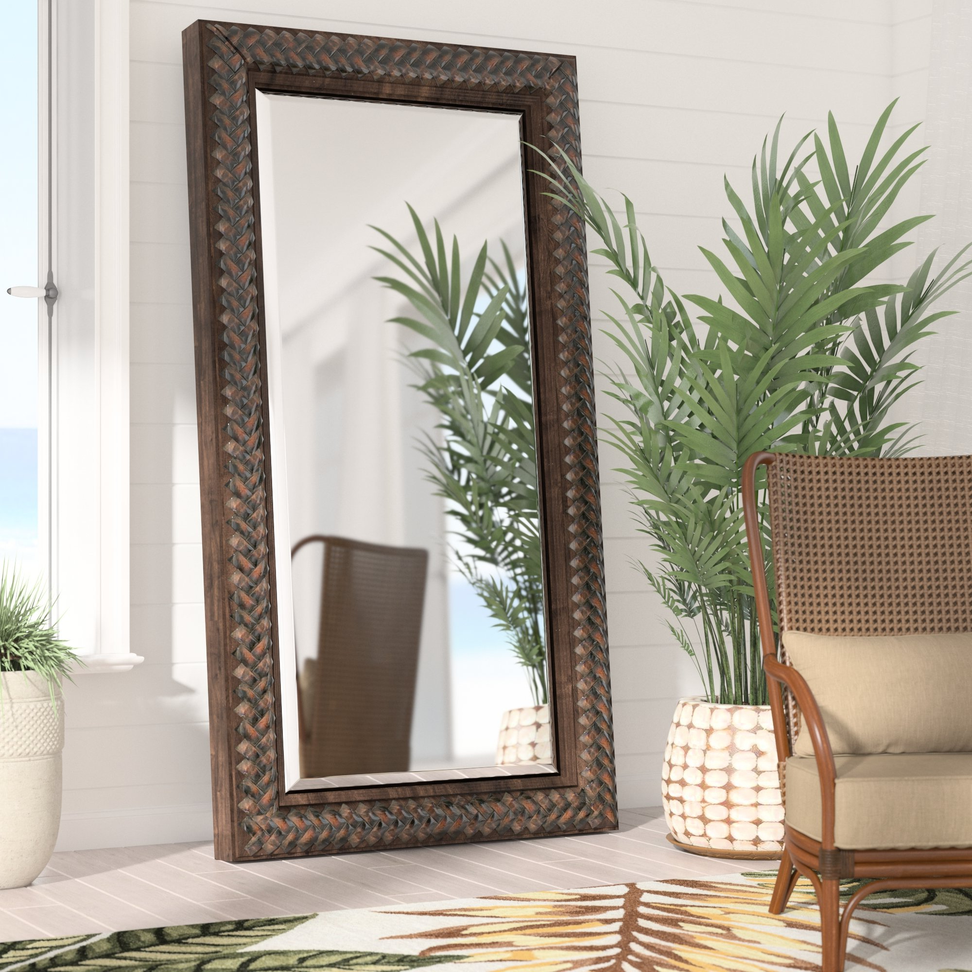 Farmhouse & Rustic Floor Mirrors (View 6 of 20)