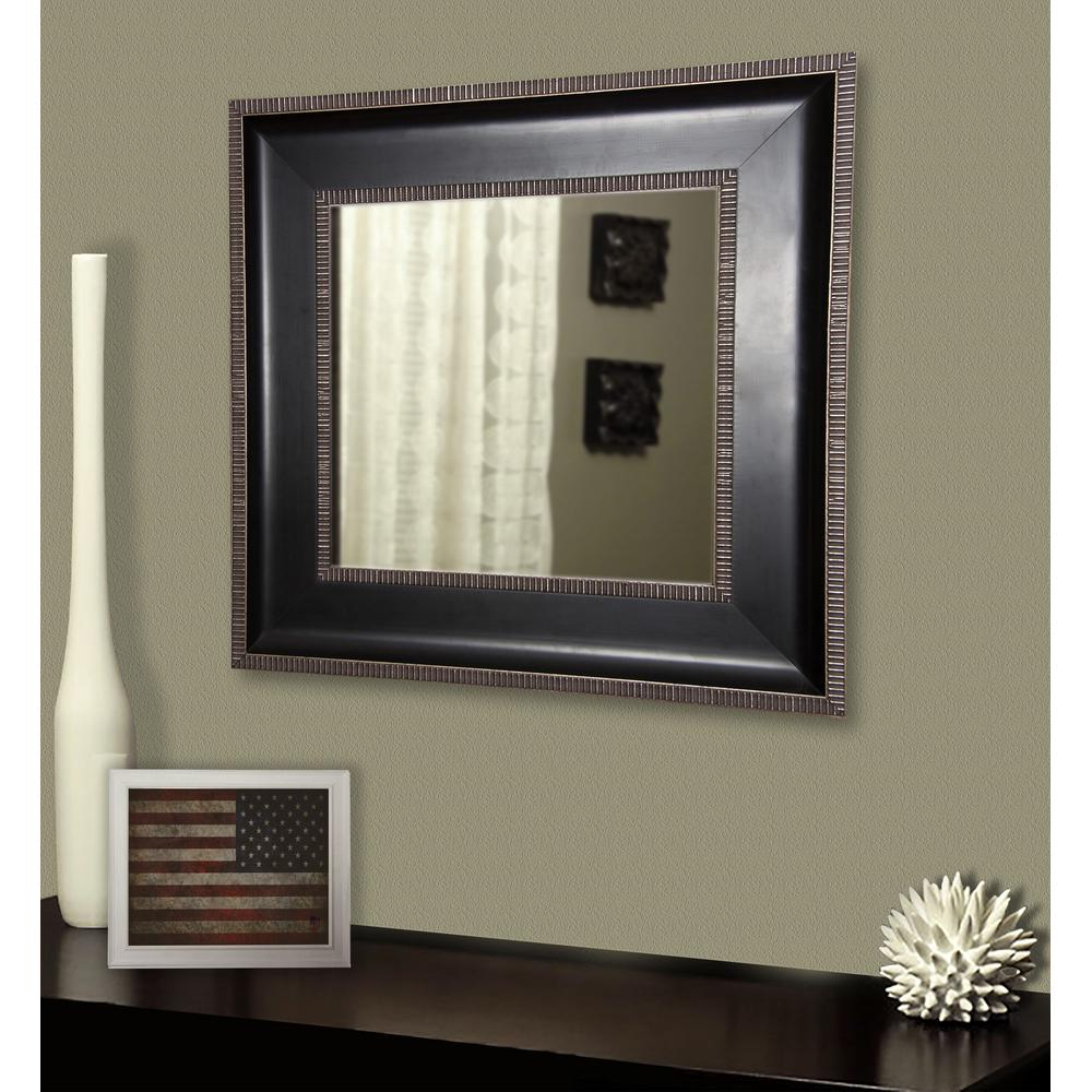 Fashionable Black And Silver Wall Mirrors In 20.25 In. X 20.25 In (View 19 of 20)