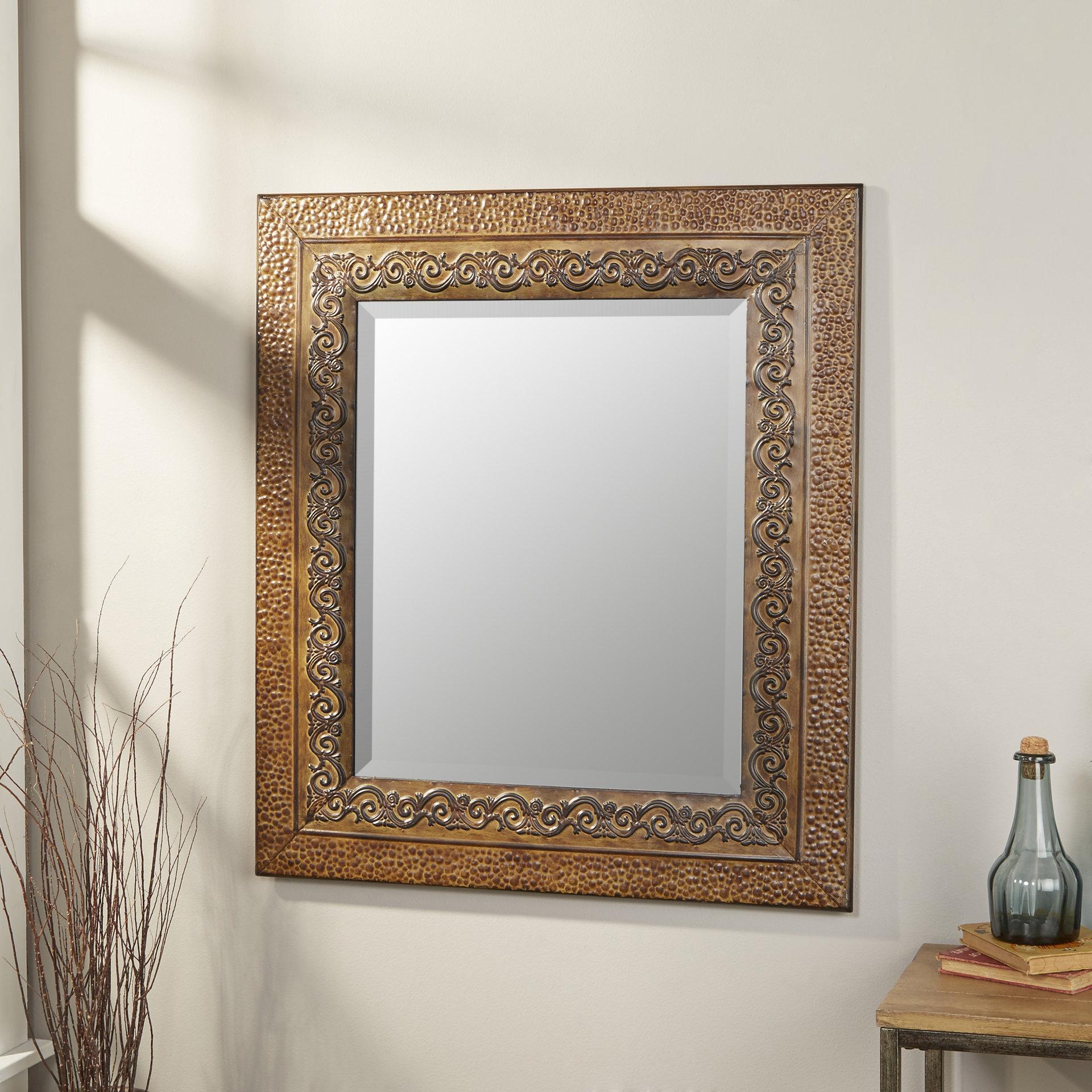 Fashionable Boyers Wall Mirrors Regarding Asrani Rustic Metal Framed Mirror (View 11 of 20)