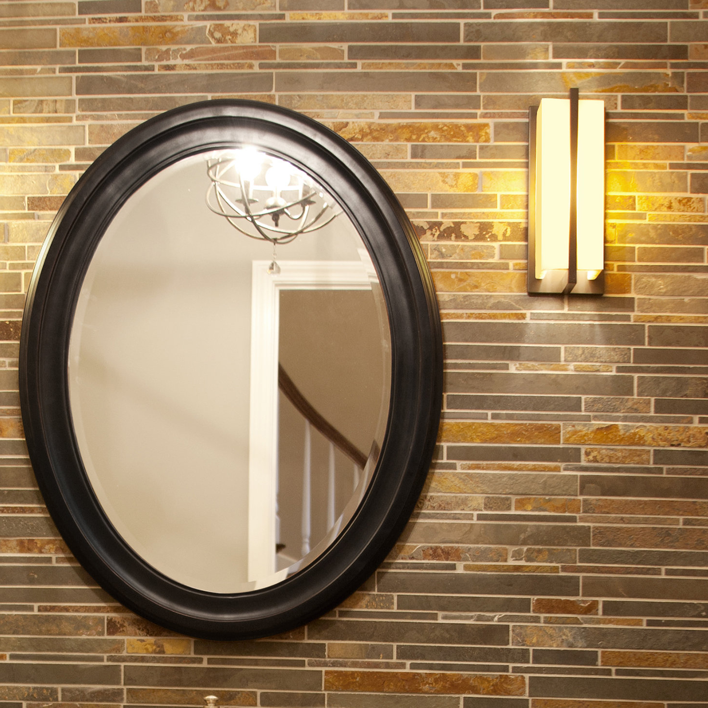 Fashionable Burnes Oval Traditional Wall Mirrors Intended For Pfister Oval Wood Wall Mirror (View 14 of 20)