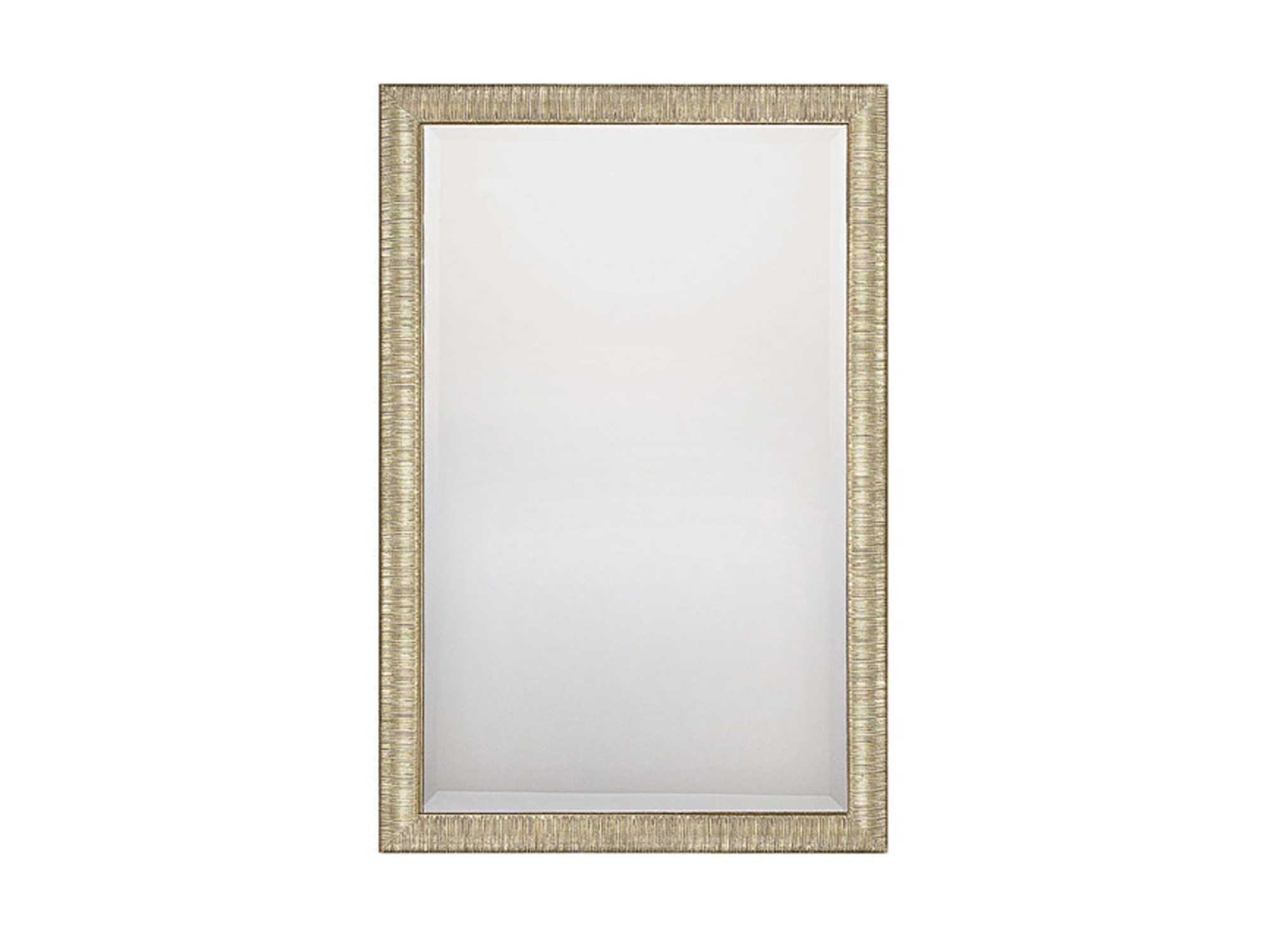 Fashionable Capital Lighting 24 X 36 Rectangular Beveled Striated Silver & Gold Wall  Mirror In 24 X 36 Wall Mirrors (View 11 of 20)
