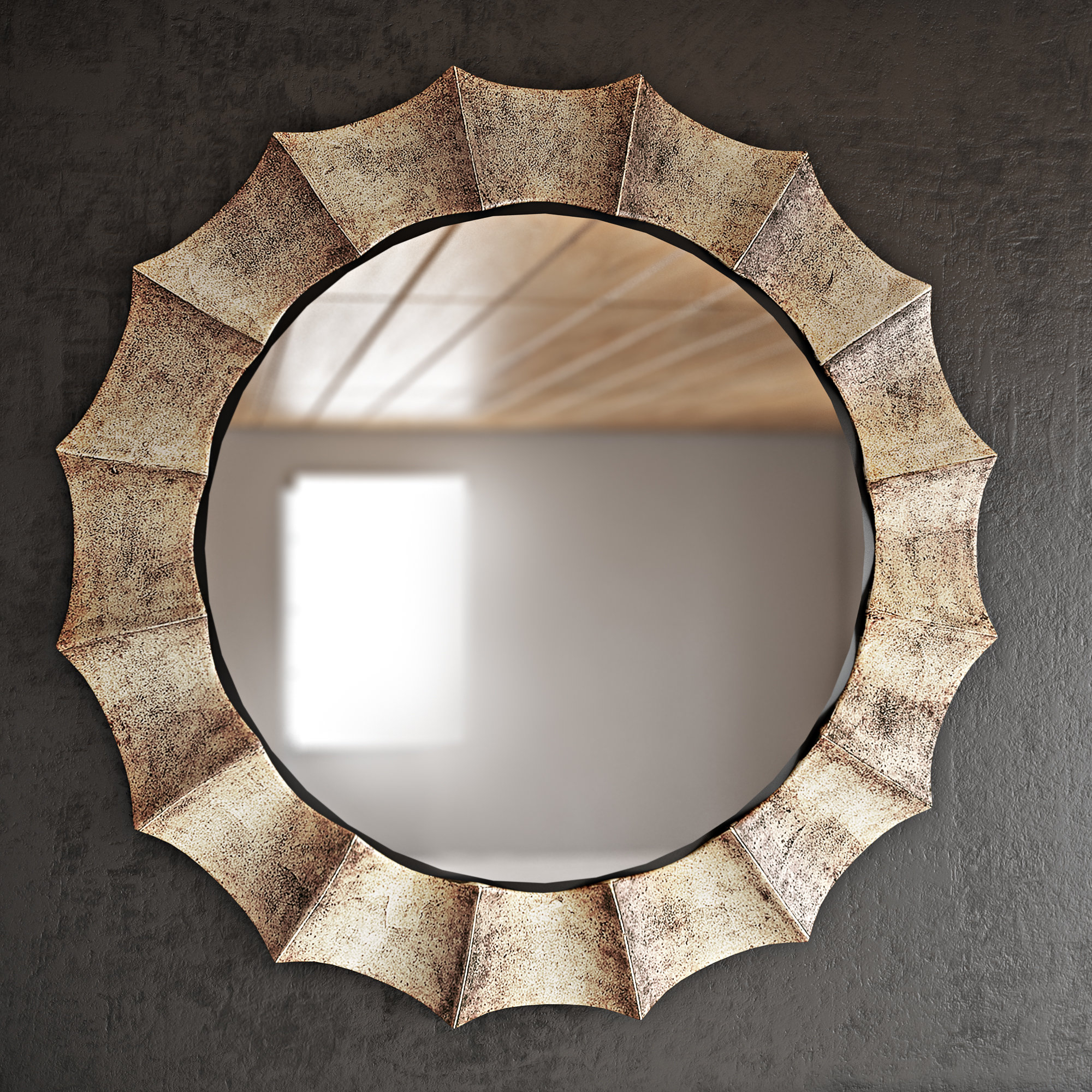 Fashionable Circle Wall Mirrors Inside Manuel Vertical Round Wall Mirror (View 14 of 20)