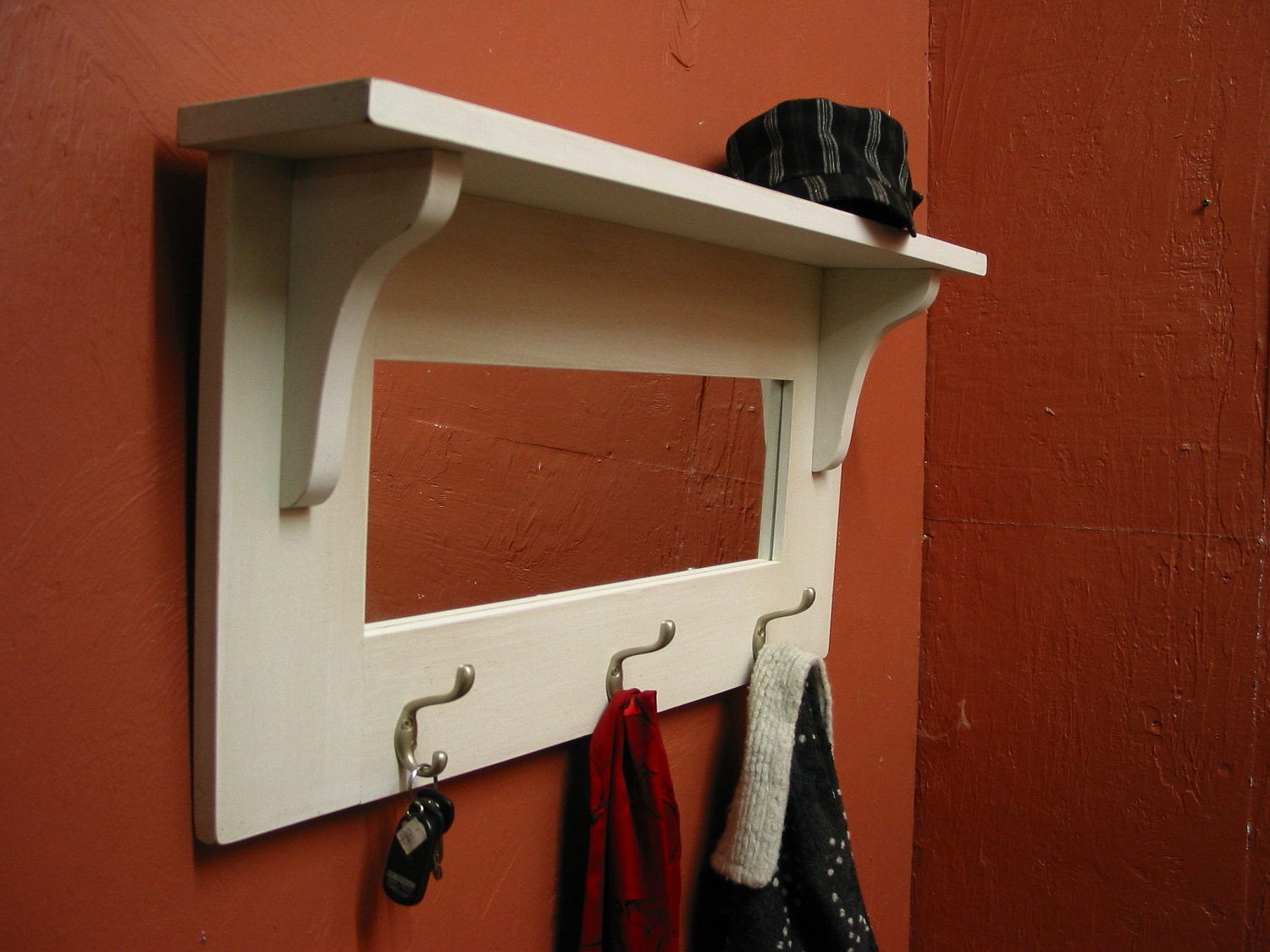 Fashionable Coat Rack Wall Mirrors With Regard To Entryway Mirror With Shelf – Webfaceconsult (View 4 of 20)
