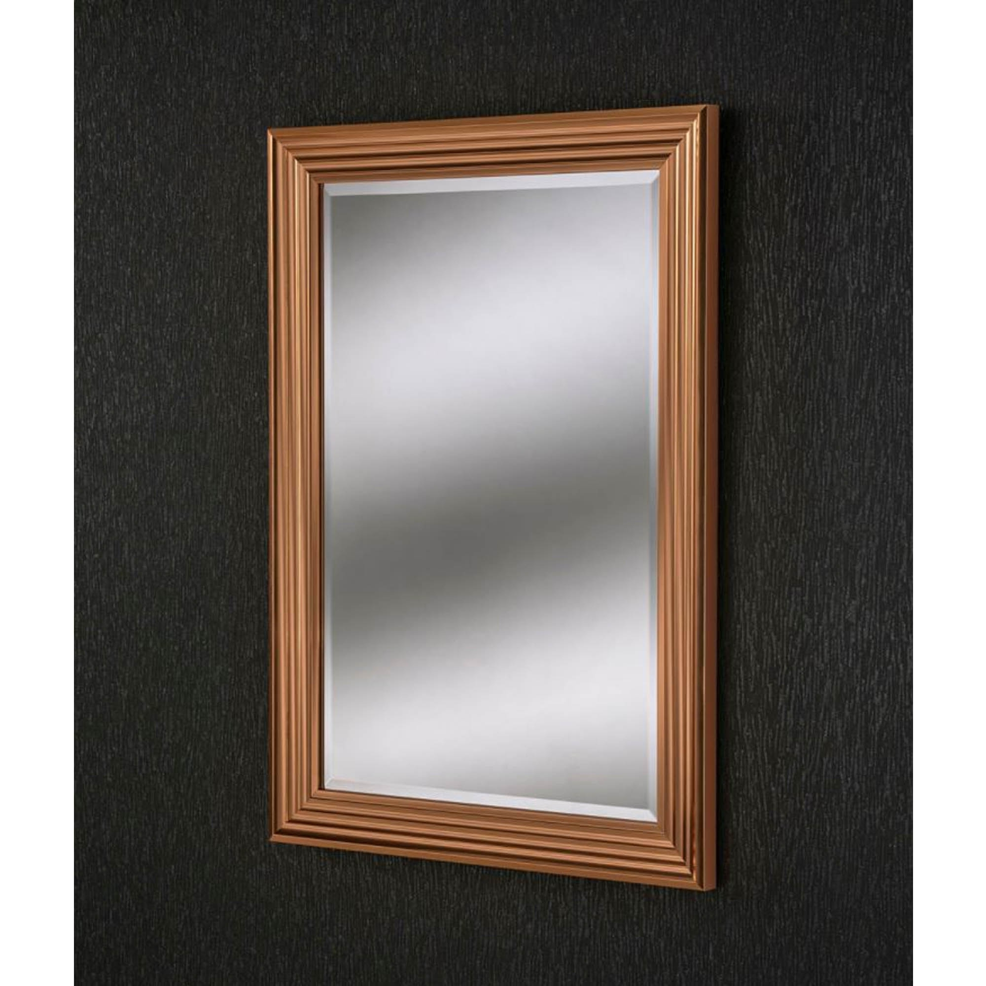 Fashionable Copper Wall Mirrors Intended For Copper Bevel Rectangular Wall Mirror (View 16 of 20)