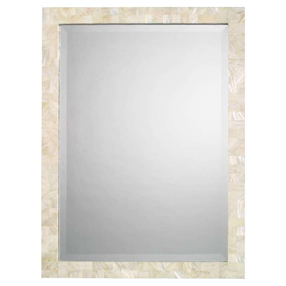 Fashionable Dandre Wall Mirrors In Andre Modern Classic Rectangular Ivory Shell Wall Mounted Mirror (View 7 of 20)